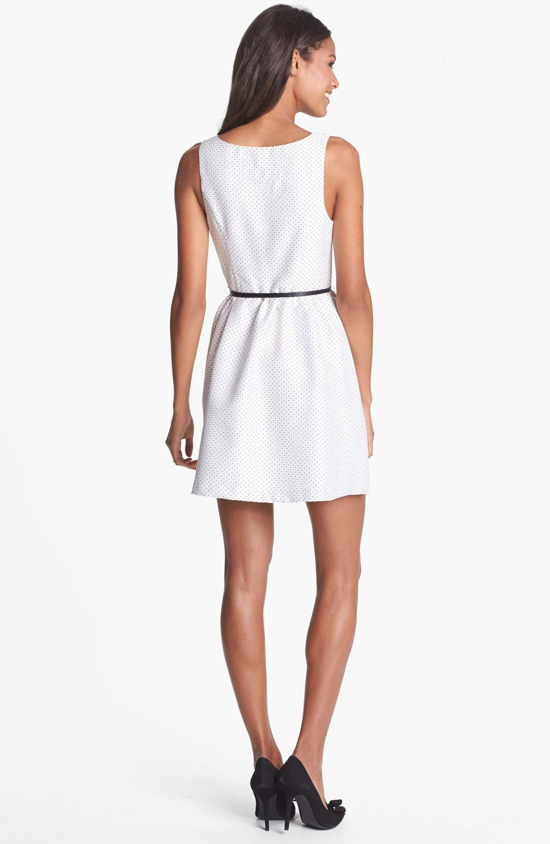 Alternate Image 2  - kensie Dot Jacquard Fit & Flare Dress