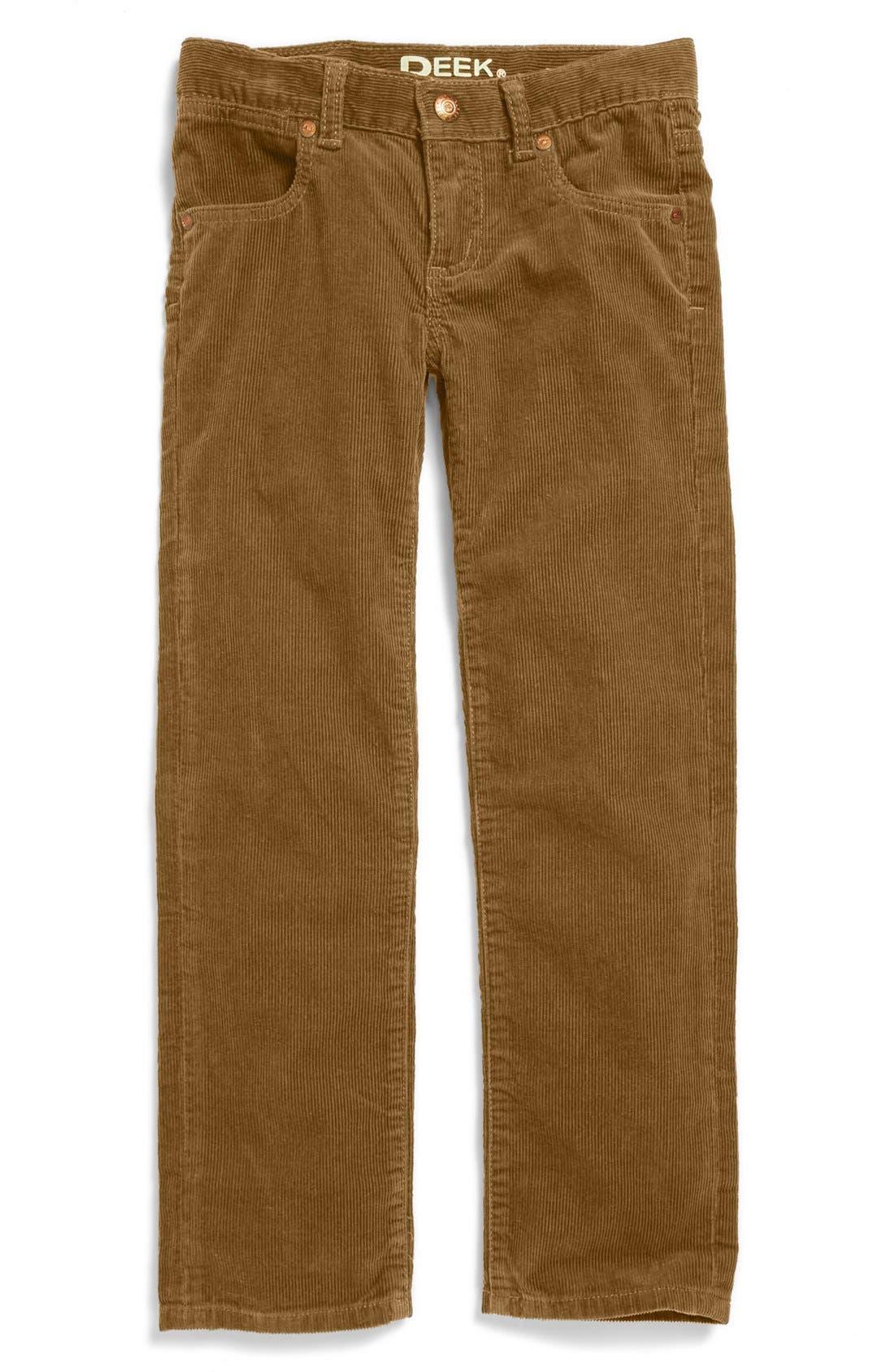 Main Image - Peek 'Ellis' Slim Corduroy Pants (Toddler Boys, Little Boys & Big Boys)