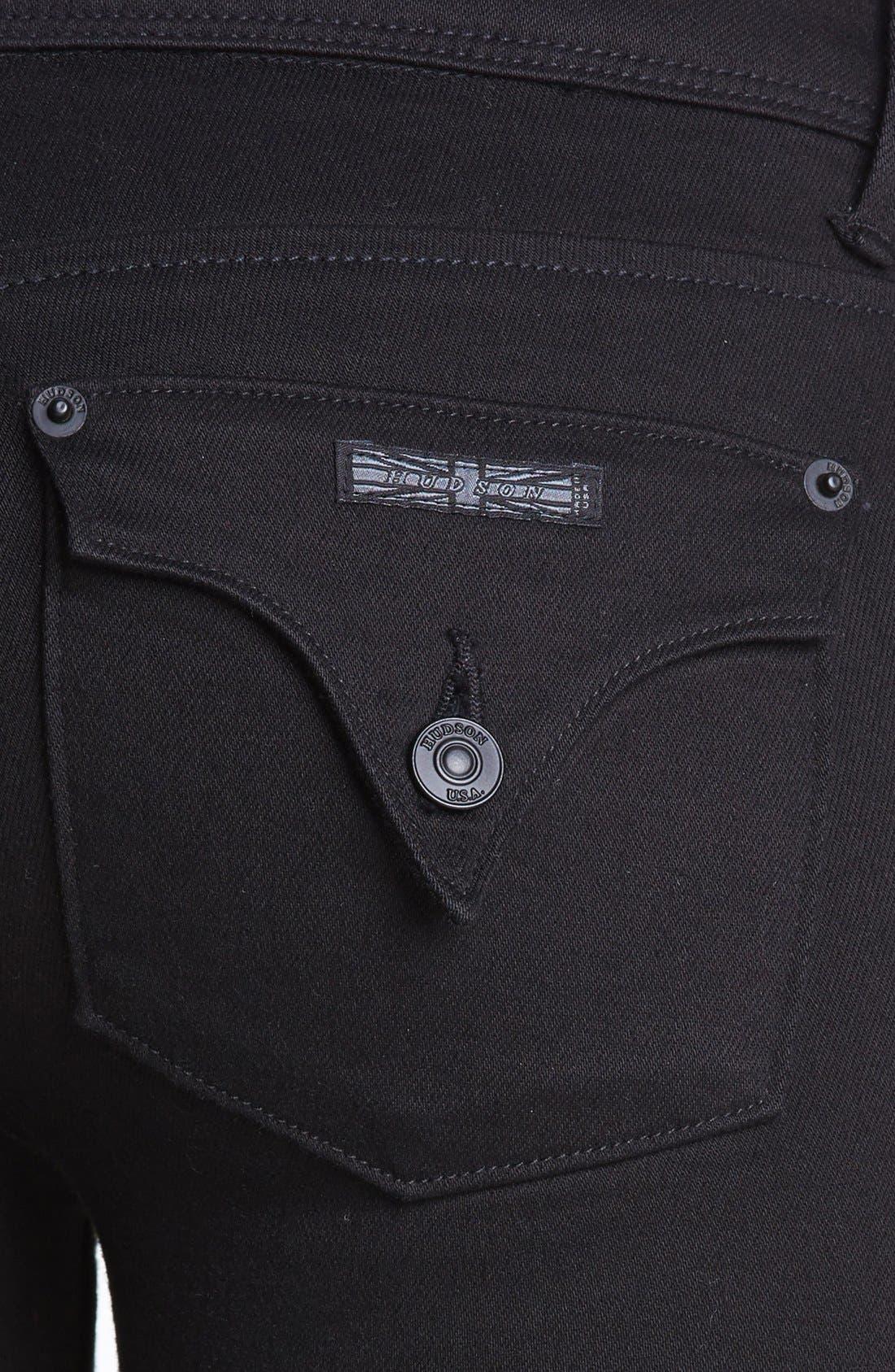 Alternate Image 3  - Hudson Jeans 'Collin' Skinny Jeans (Black)