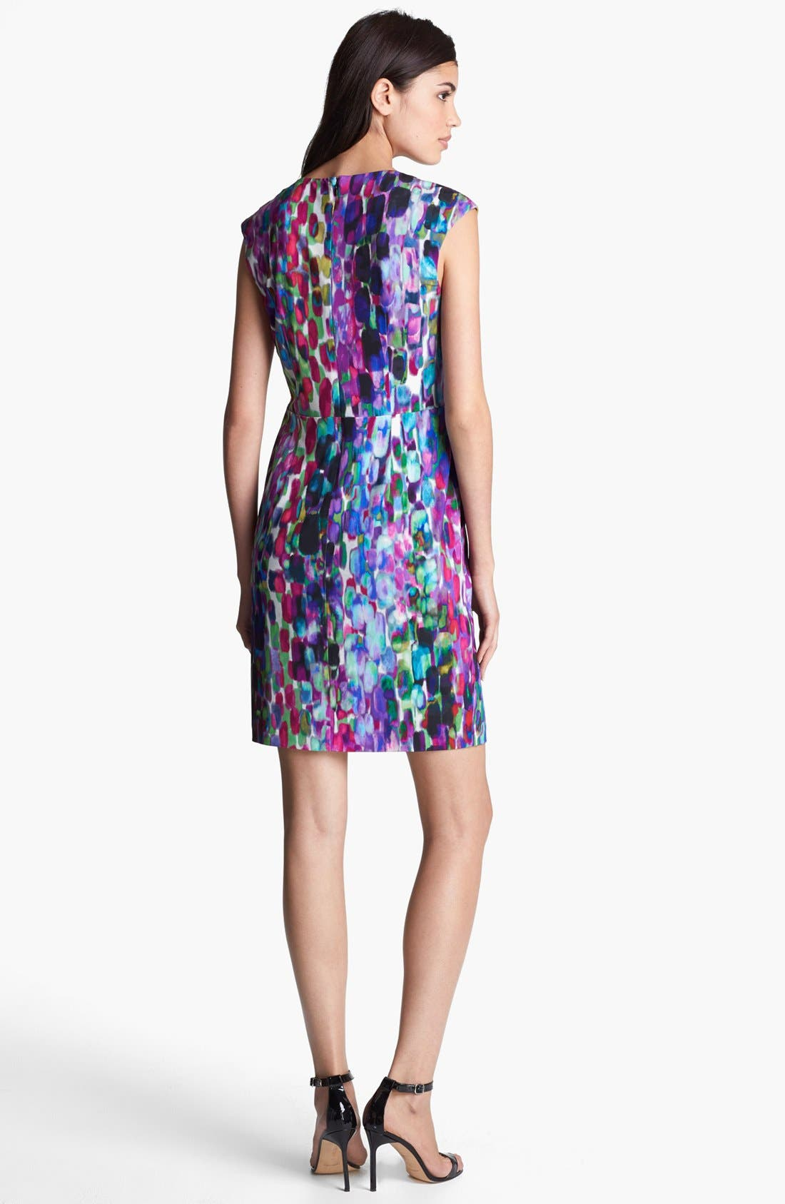 Alternate Image 2  - Ivy & Blu Print Jersey Dress (Petite)