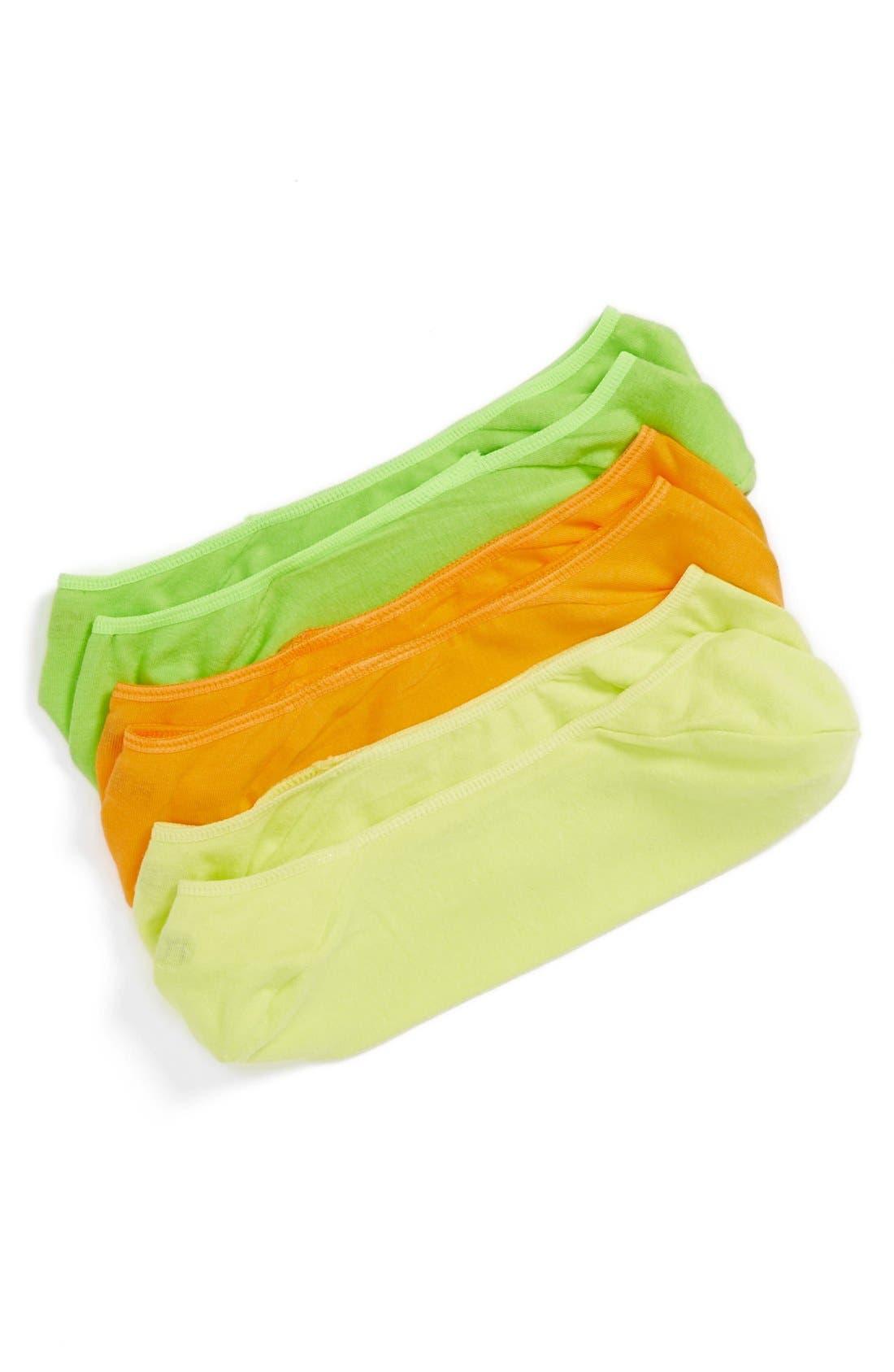 Alternate Image 1 Selected - Polo Ralph Lauren 3-Pack Liner Socks