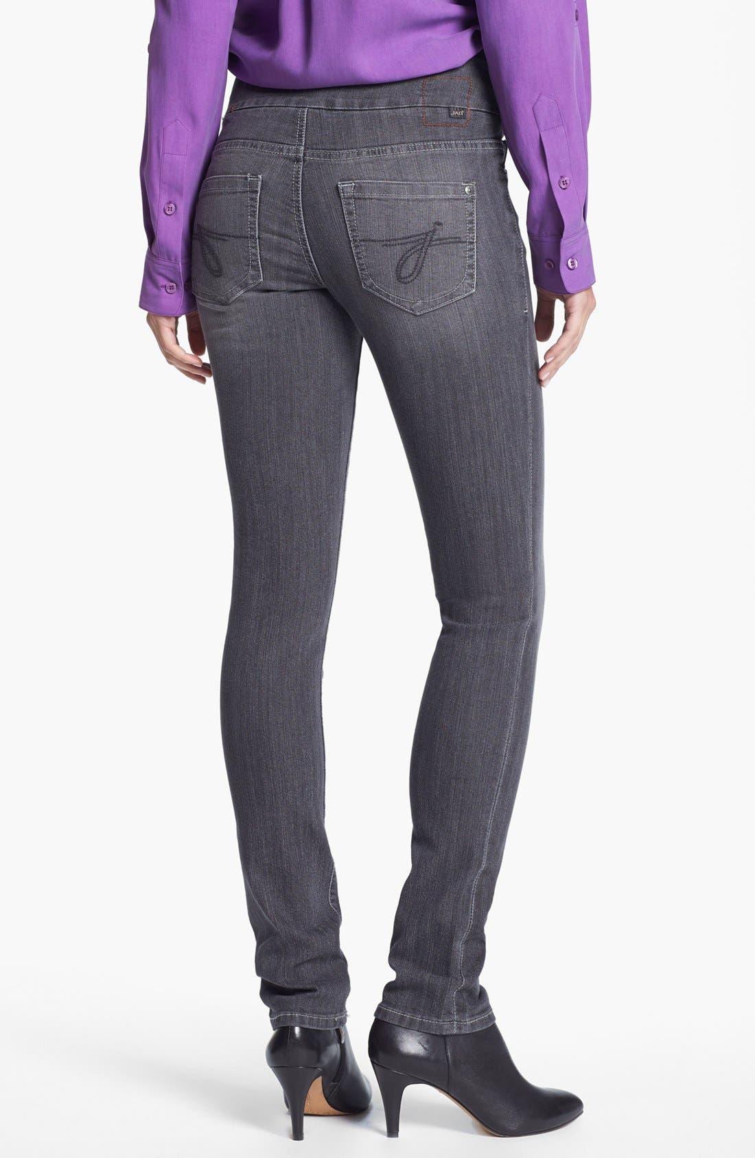 Alternate Image 2  - Jag Jeans 'Malia' Slim Leg Stretch Jeans (Grey)