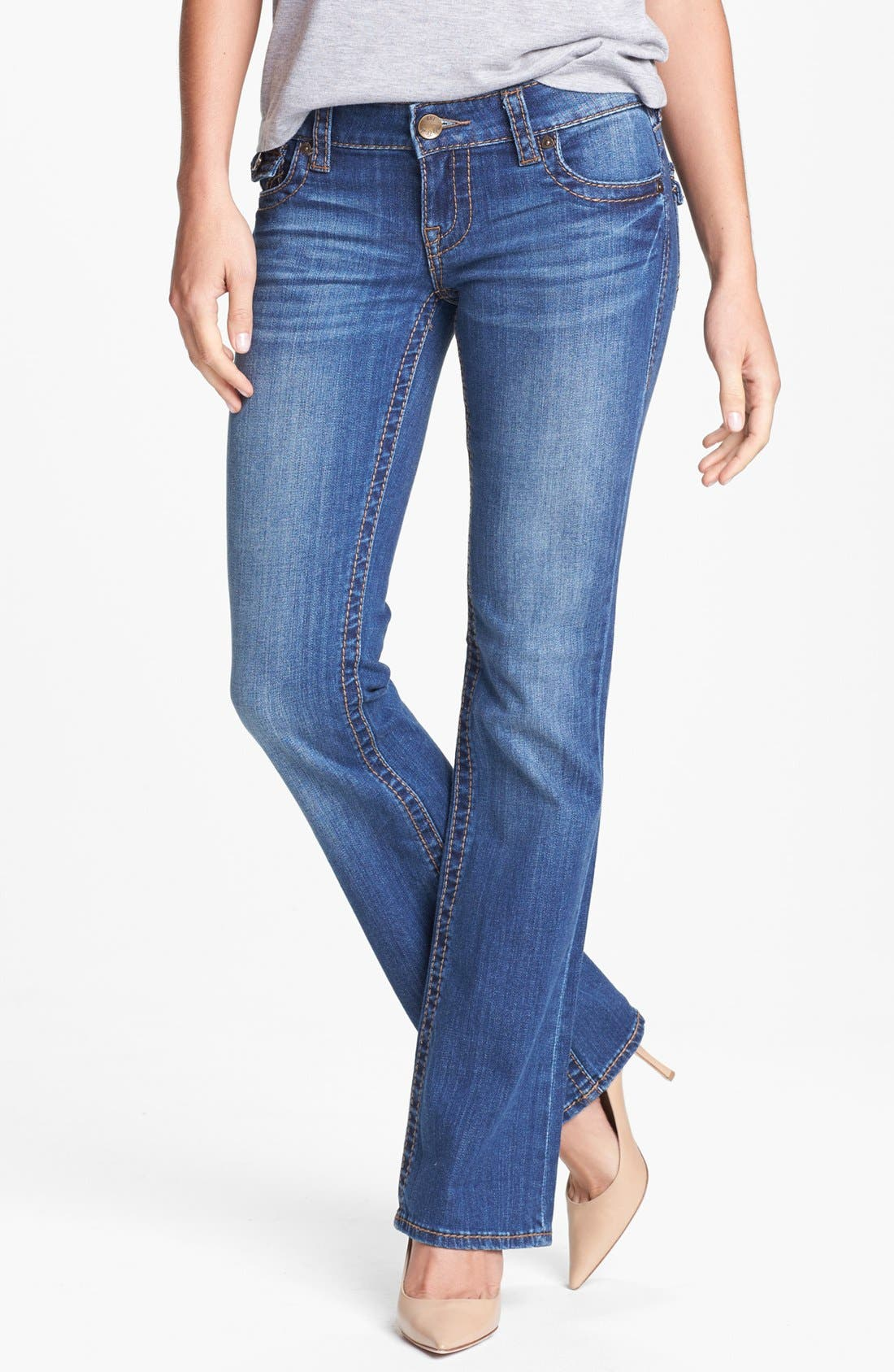Alternate Image 1 Selected - KUT from the Kloth 'Kate' Bootcut Jeans (Regular & Tall) (Abundance)