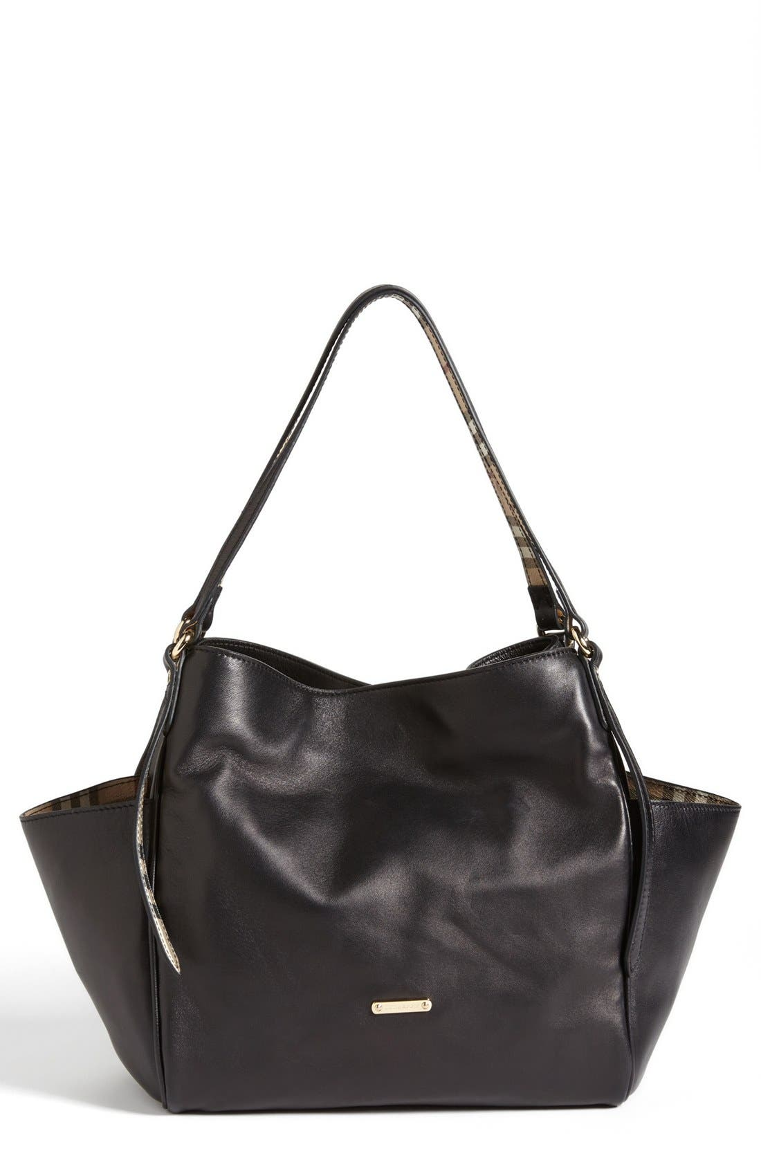 Alternate Image 1 Selected - Burberry 'Canterbury' Leather Over Shoulder Tote