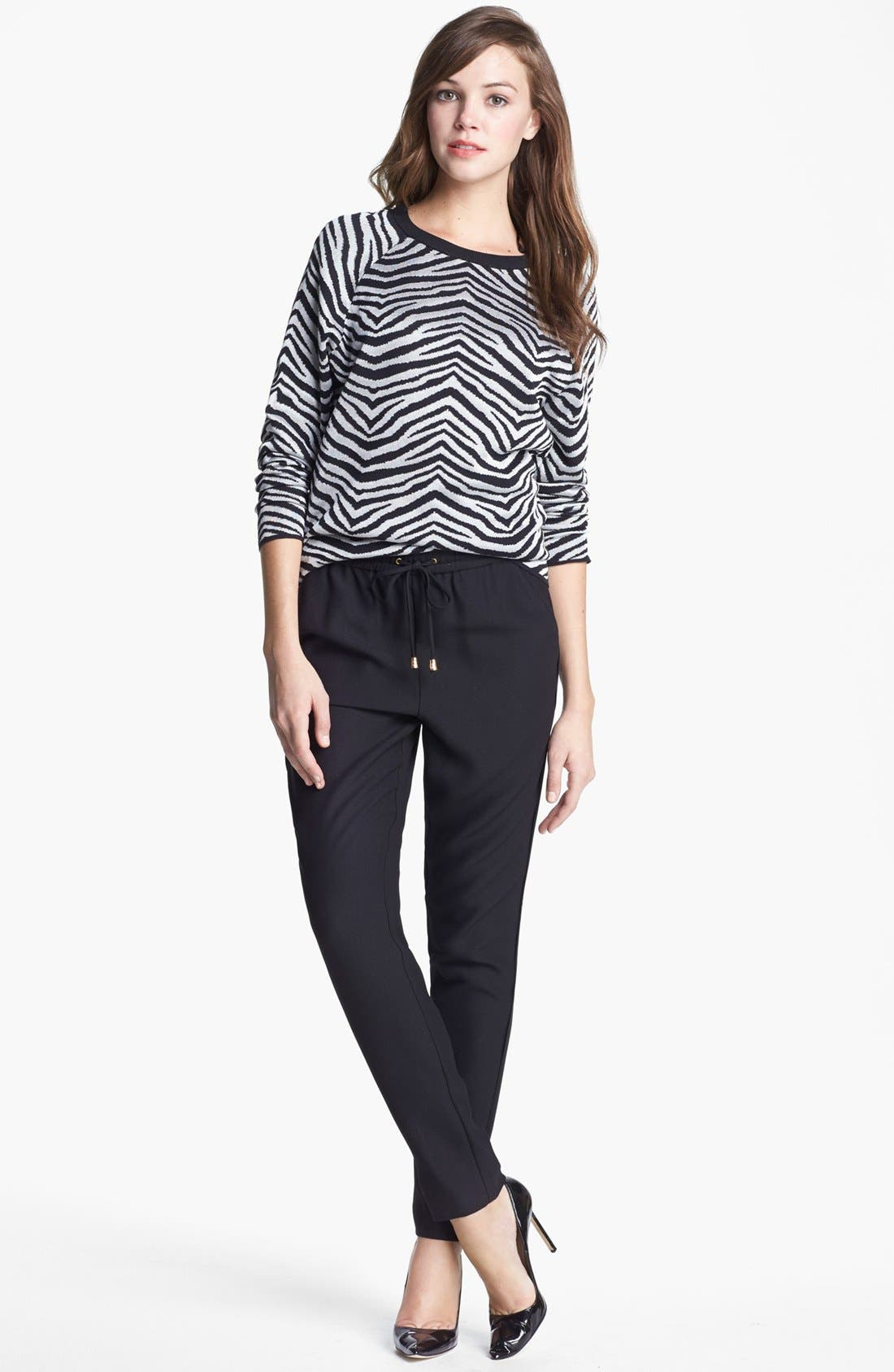 Alternate Image 4  - Vince Camuto Zebra Stripe Top (Regular & Petite)