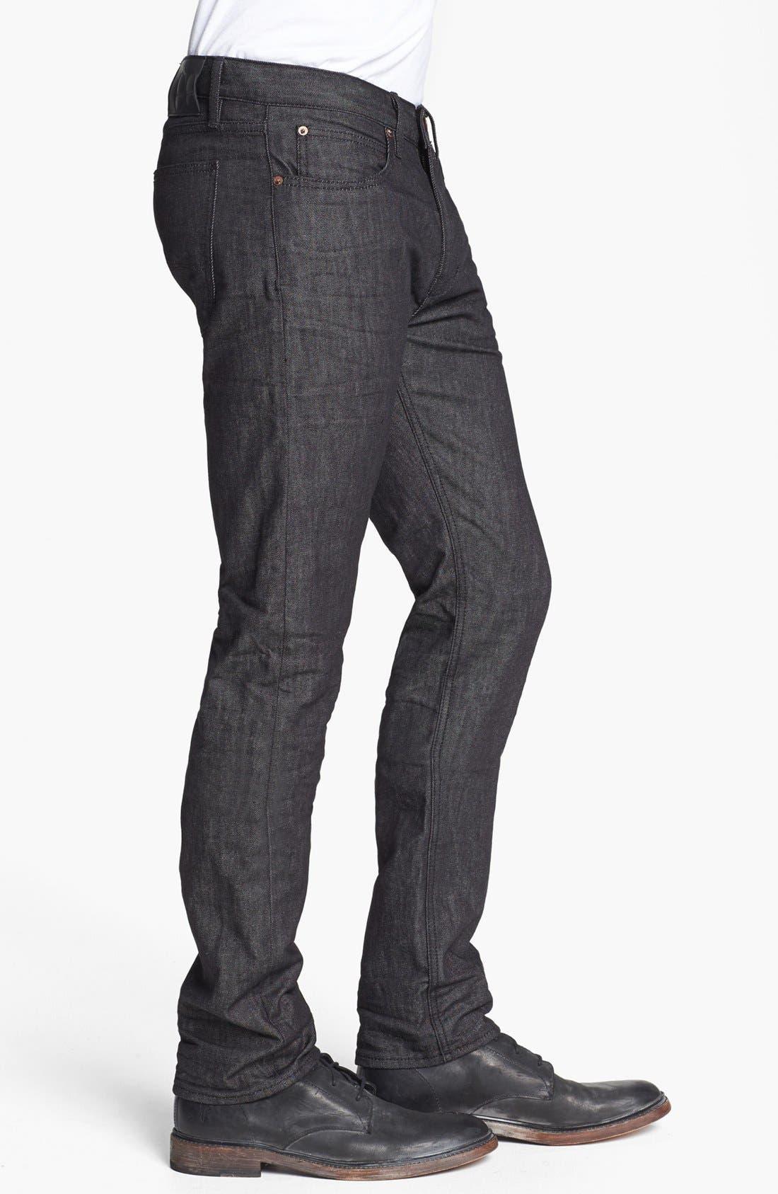 Alternate Image 3  - Lee 101 USA 'Lean' Straight Leg Jeans (Black Wet)