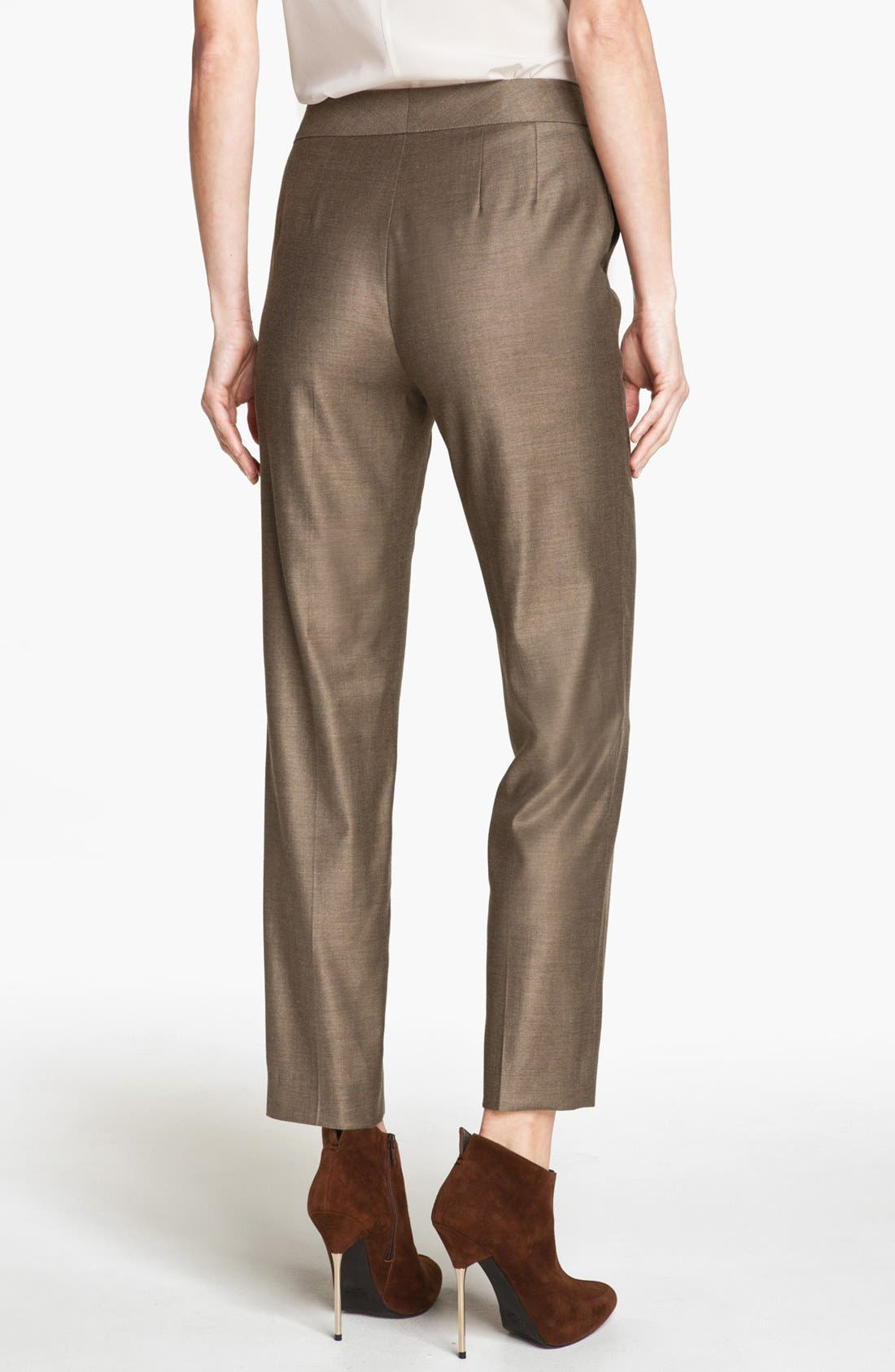 Alternate Image 2  - St. John Collection 'Emma' Shimmer Twill Crop Pants