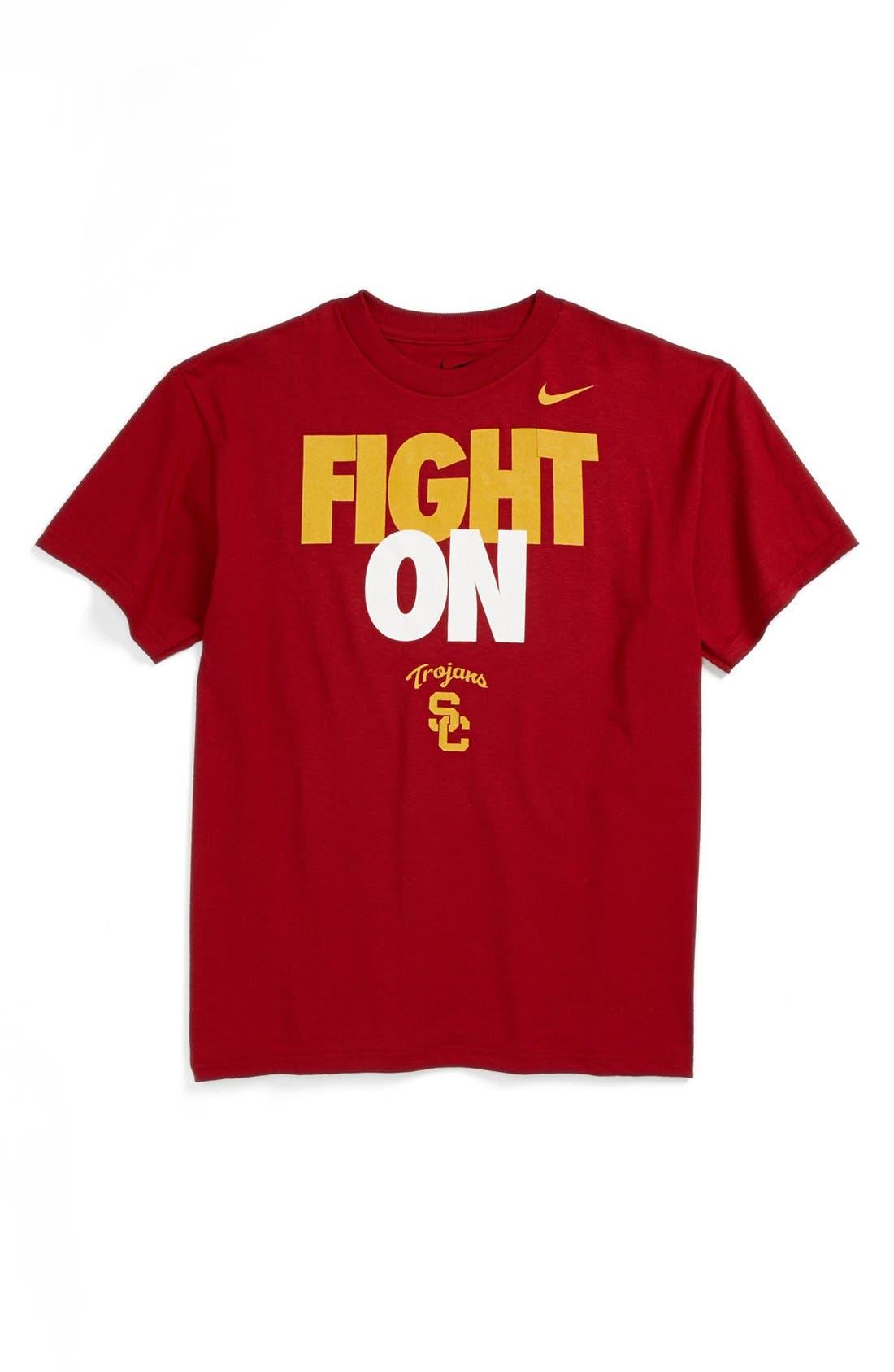 Alternate Image 1 Selected - Nike 'Fight On - USC Trojans' T-Shirt (Big Boys)