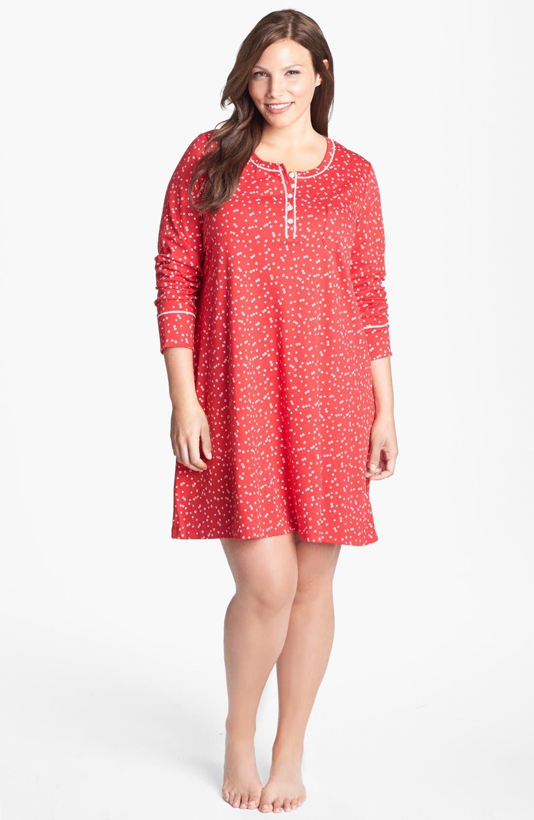 Alternate Image 1 Selected - Carole Hochman Designs Knit Sleep Shirt (Plus Size)