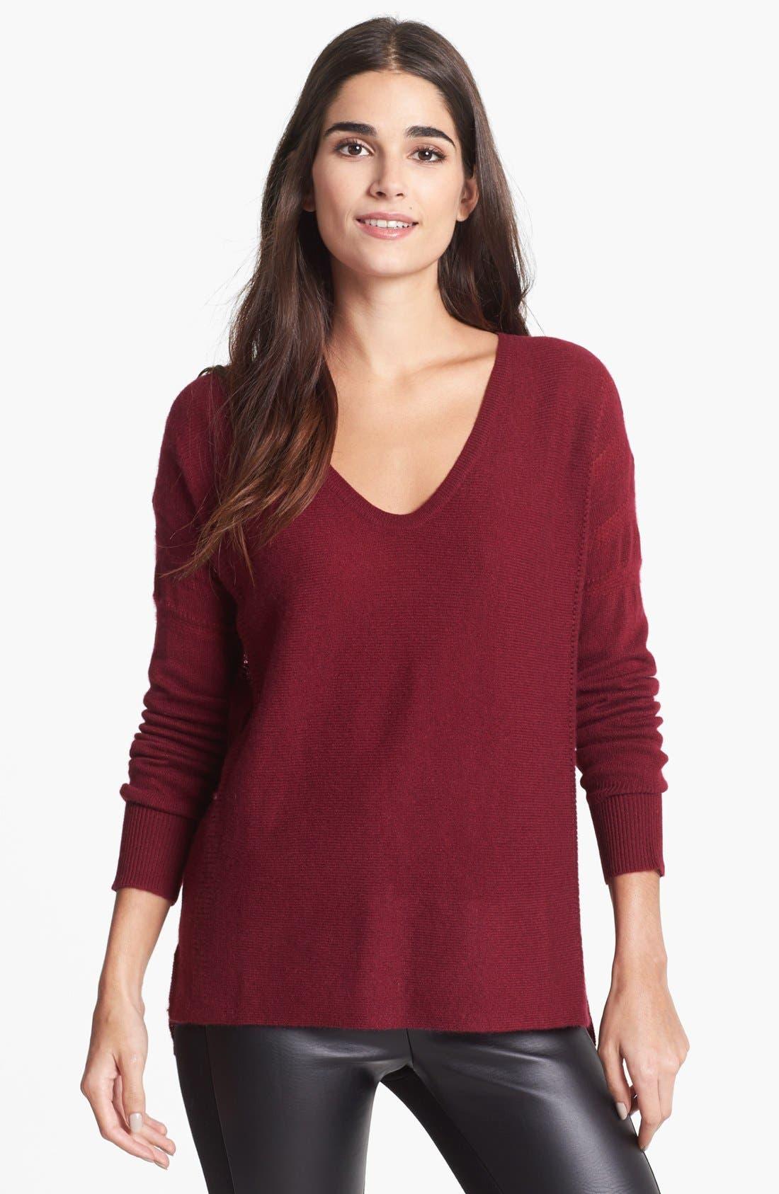 Main Image - White + Warren V-Neck Cashmere Sweater