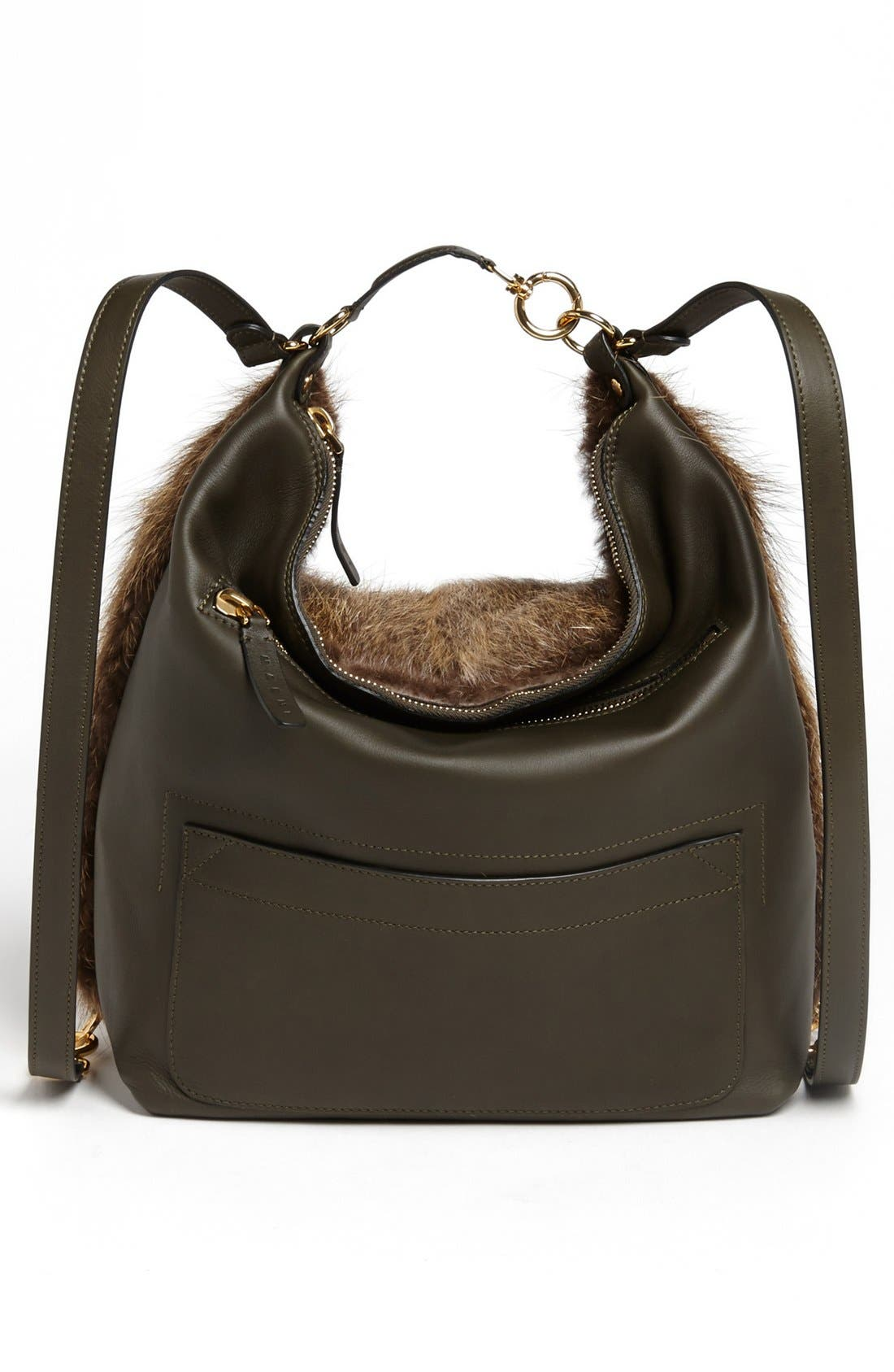 Alternate Image 4  - Marni Convertible Fur & Leather Backpack