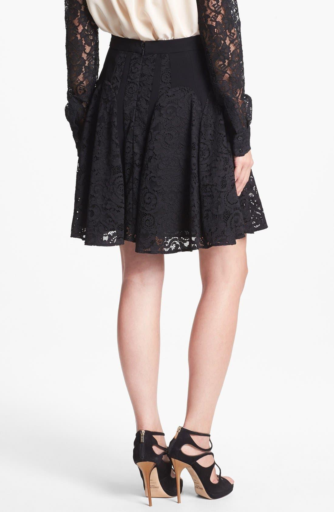 Alternate Image 2  - Diane von Furstenberg 'Radella' Paneled Lace Skirt