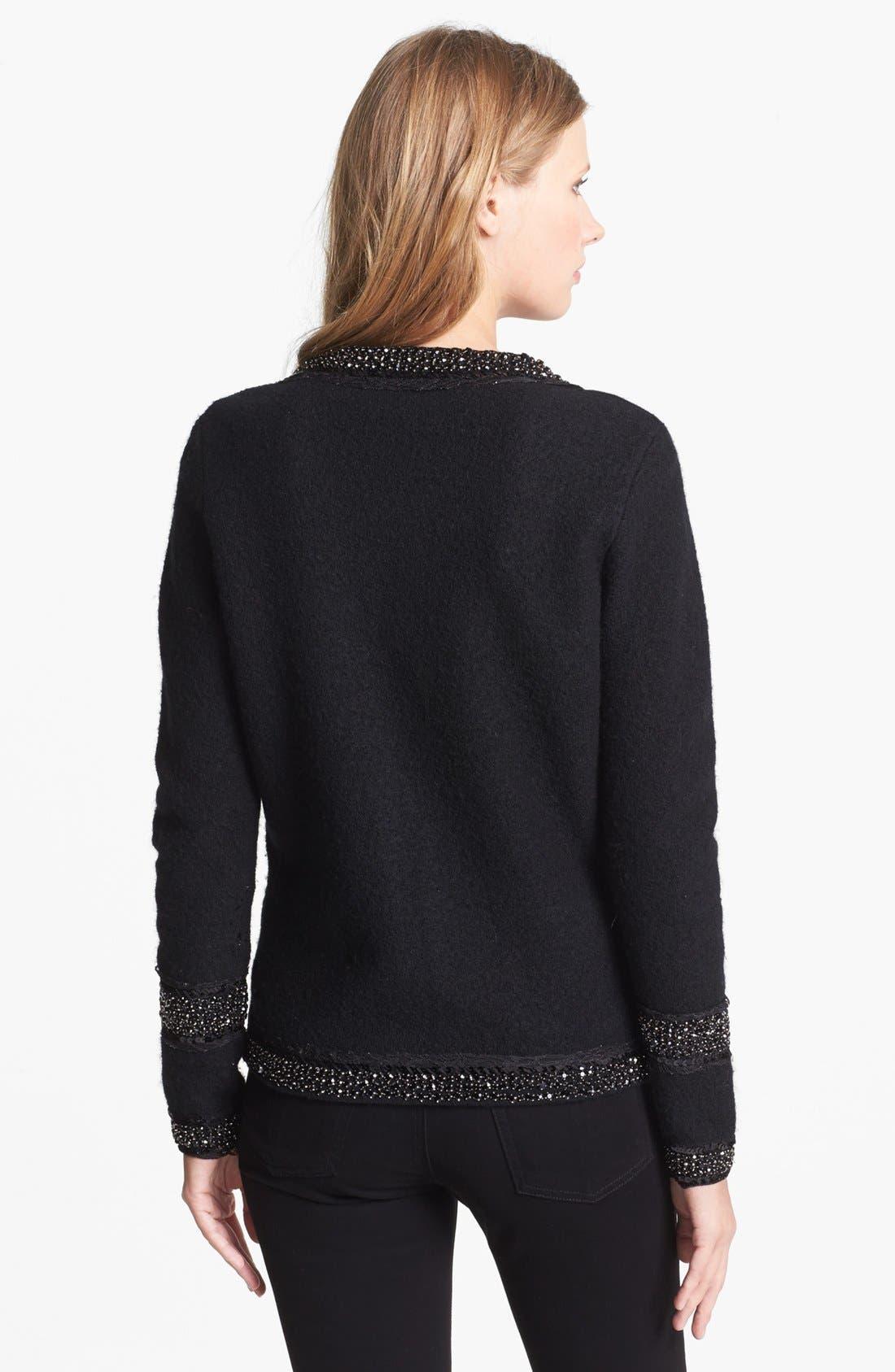 Alternate Image 2  - Diane von Furstenberg Embellished Front Zip Wool Sweater
