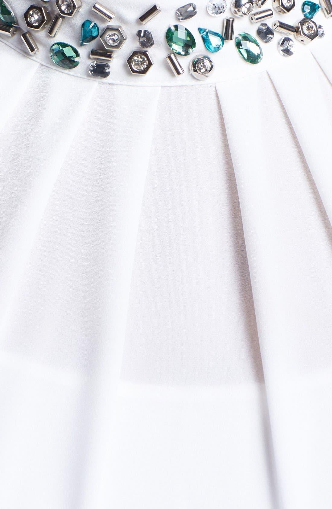 Alternate Image 3  - Vince Camuto Jewel Neck Pleat Blouse (Plus Size)