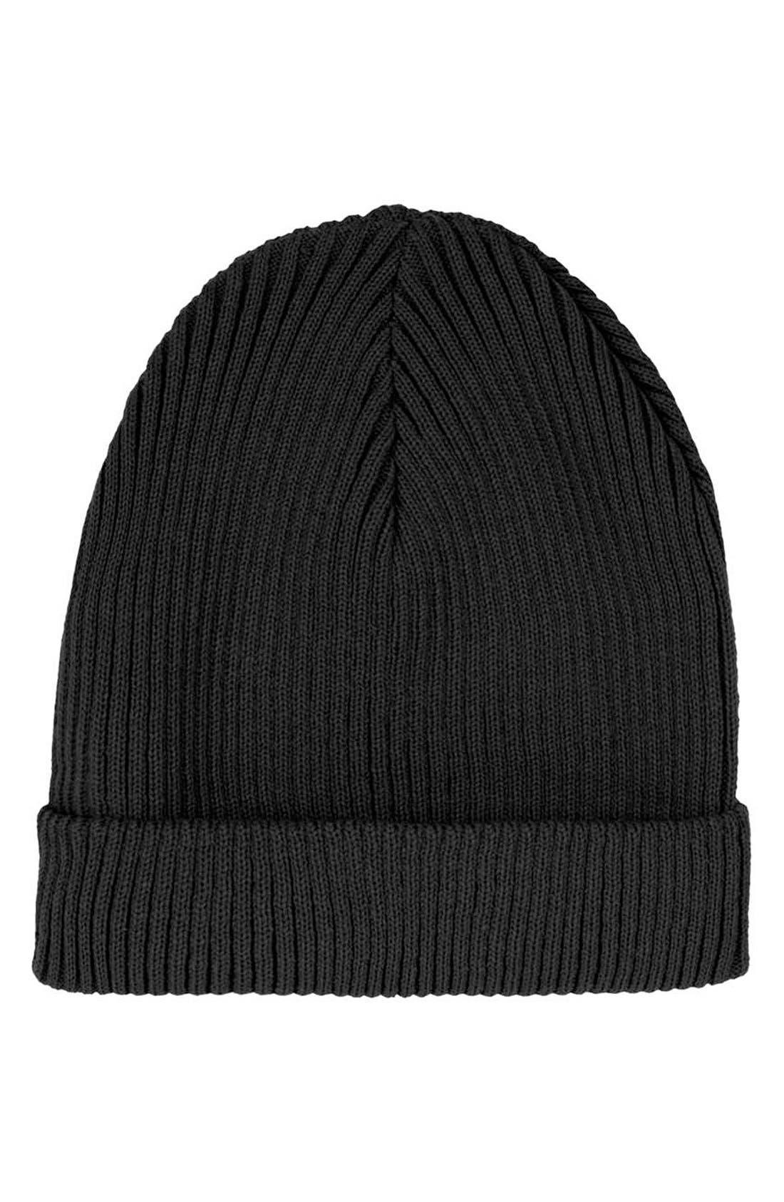 Main Image - Topshop Rib Knit Beanie