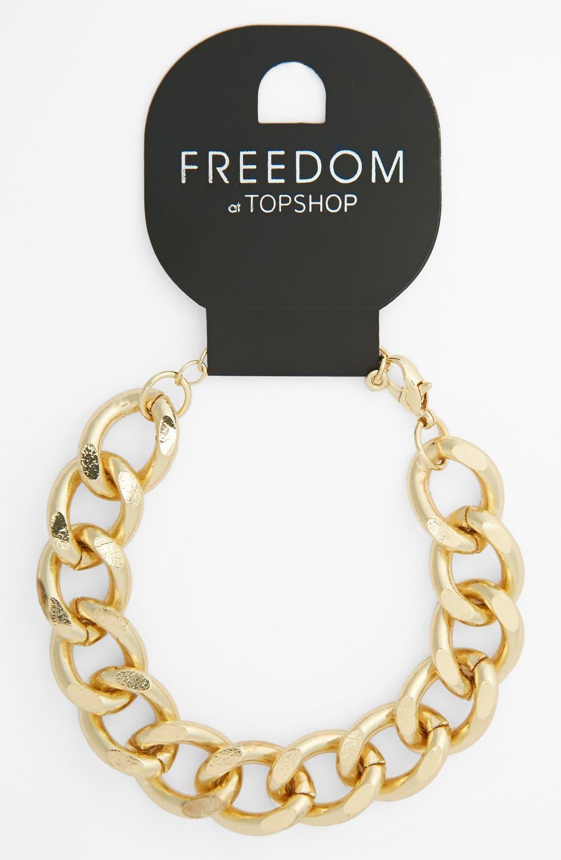 Alternate Image 1 Selected - Topshop Chain Link Bracelet