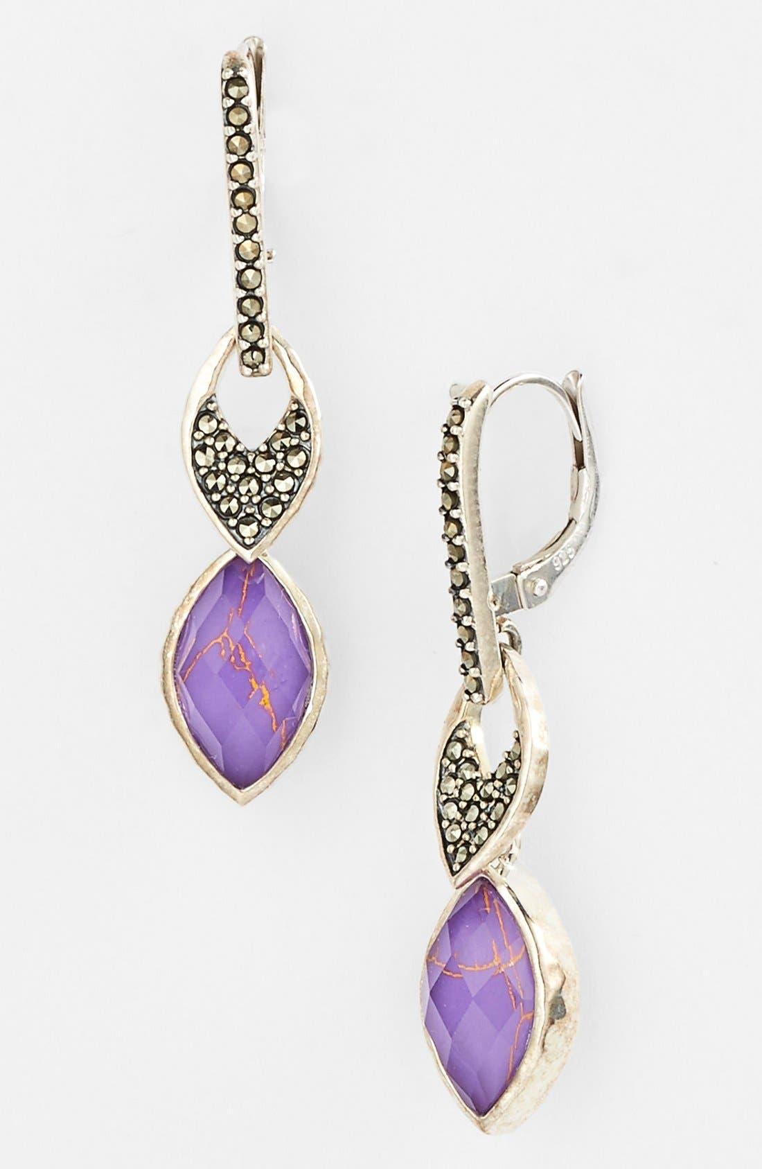 Alternate Image 1 Selected - Judith Jack 'Purple Moon' Drop Earrings