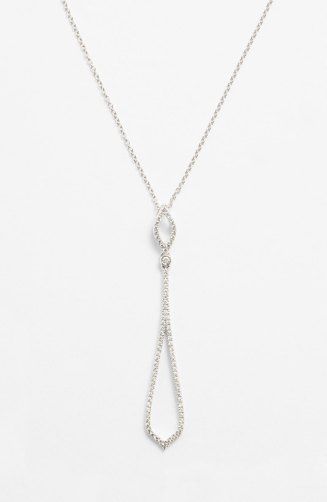 Alternate Image 1 Selected - Bony Levy Pavé Diamond Pendant Necklace (Nordstrom Exclusive)