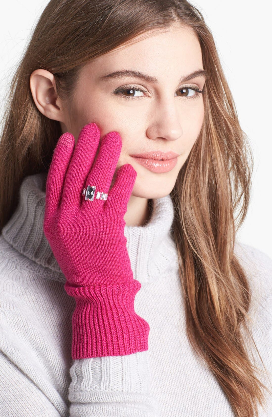 Alternate Image 2  - kate spade new york 'ring' wool blend gloves