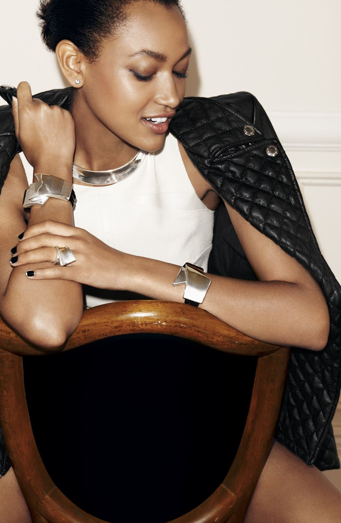 Alternate Image 2  - Simon Sebbag 'Black & Silver' Leather Bracelet