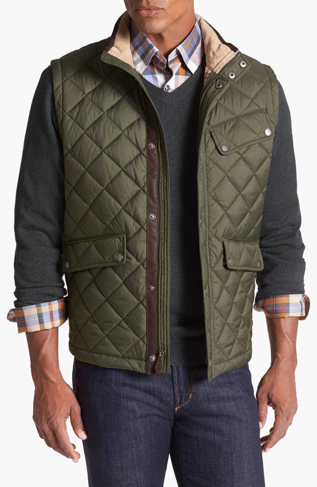 Alternate Image 1 Selected - Brooks Brothers Quilted City Vest
