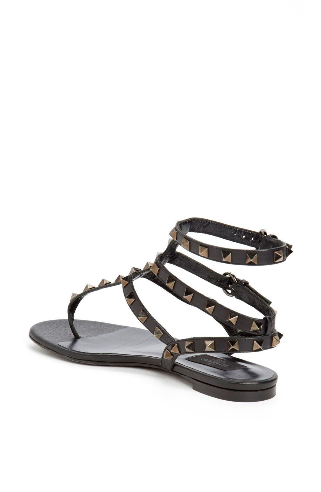 Alternate Image 2  - Valentino 'Noir Rockstud' Thong Sandal