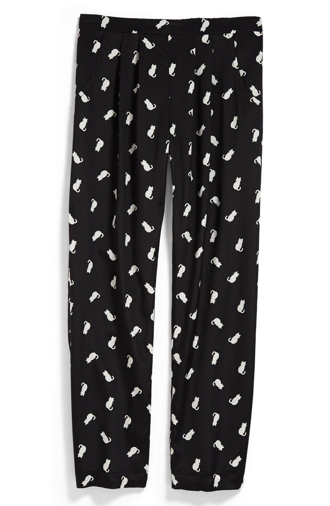 Main Image - Mia Chica 'Cat' Soft Pants (Little Girls & Big Girls)
