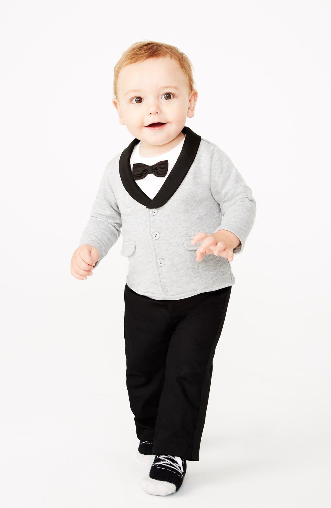 Alternate Image 3  - Miniclasix Jacket, T-Shirt & Pants (Baby Boys)