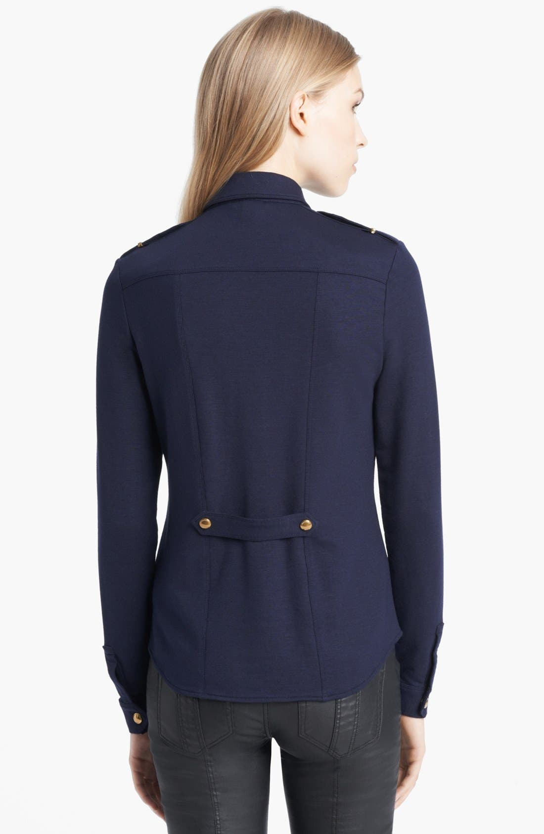 Alternate Image 2  - Burberry Brit Snap Front Knit Shirt