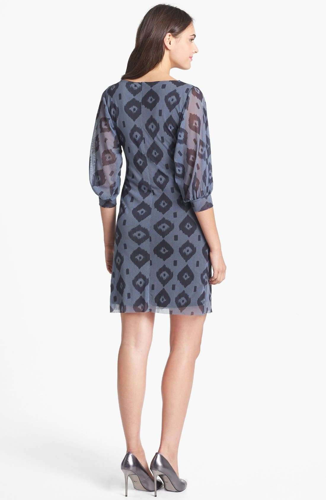 Alternate Image 2  - Sweet Pea by Stacy Frati Print Mesh Shift Dress