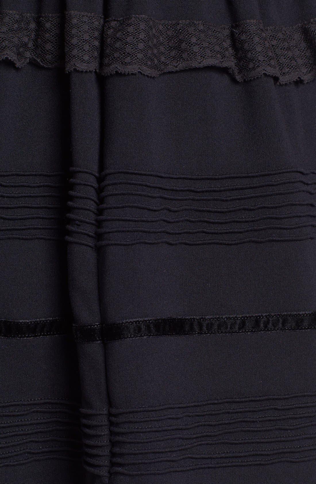 Alternate Image 3  - RED Valentino Jersey, Lace & Velvet Dress