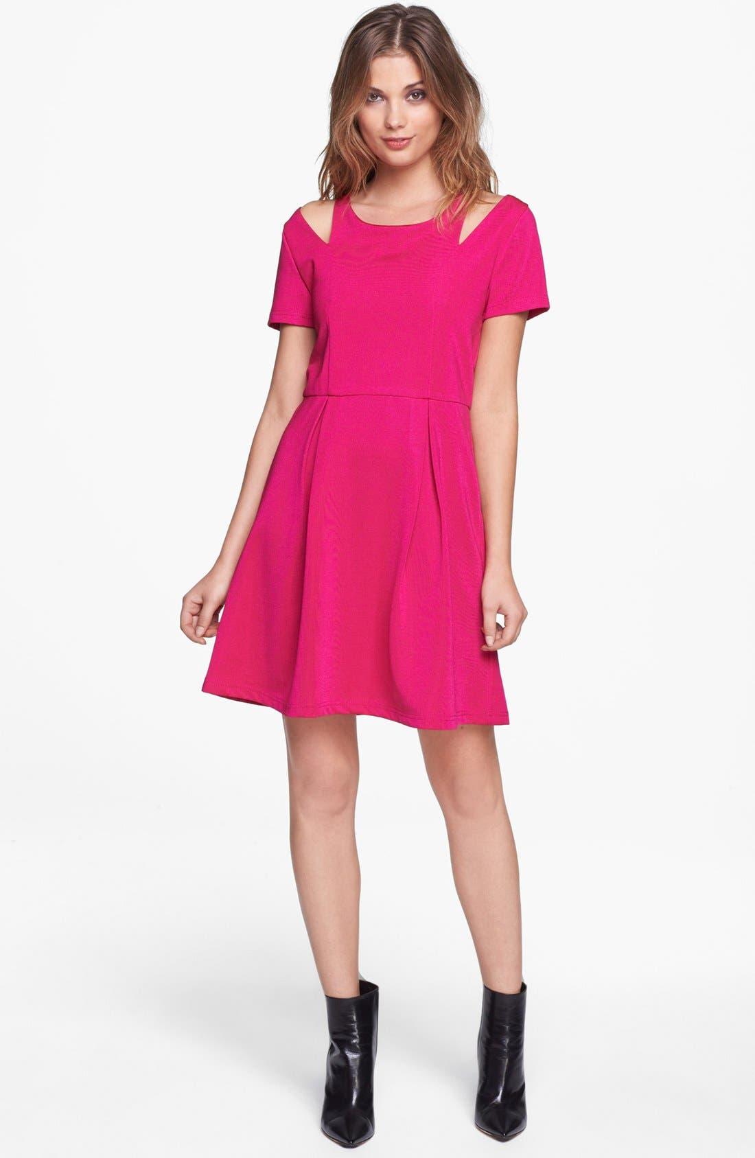 Main Image - MINKPINK Shoulder Cutout Fit & Flare Dress
