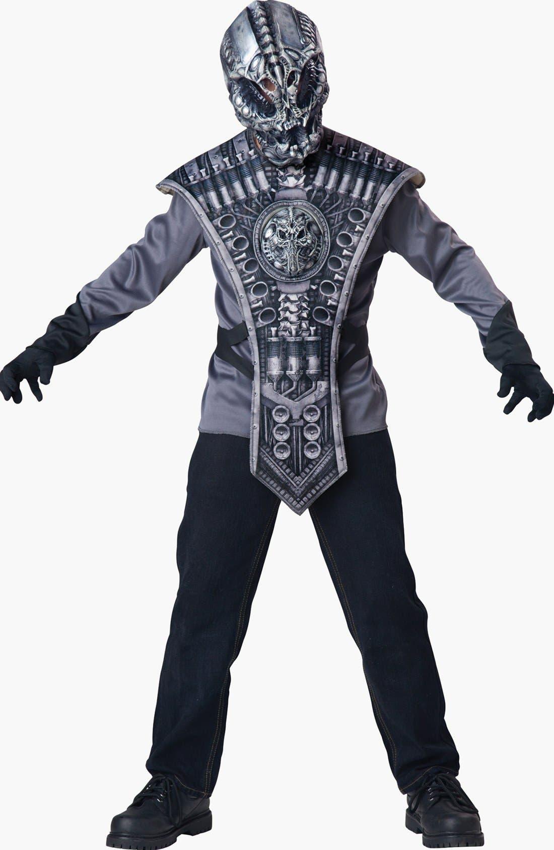 Main Image - InCharacter Costumes 'Alien Warrior' Tunic & Mask (Little Boys & Big Boys)