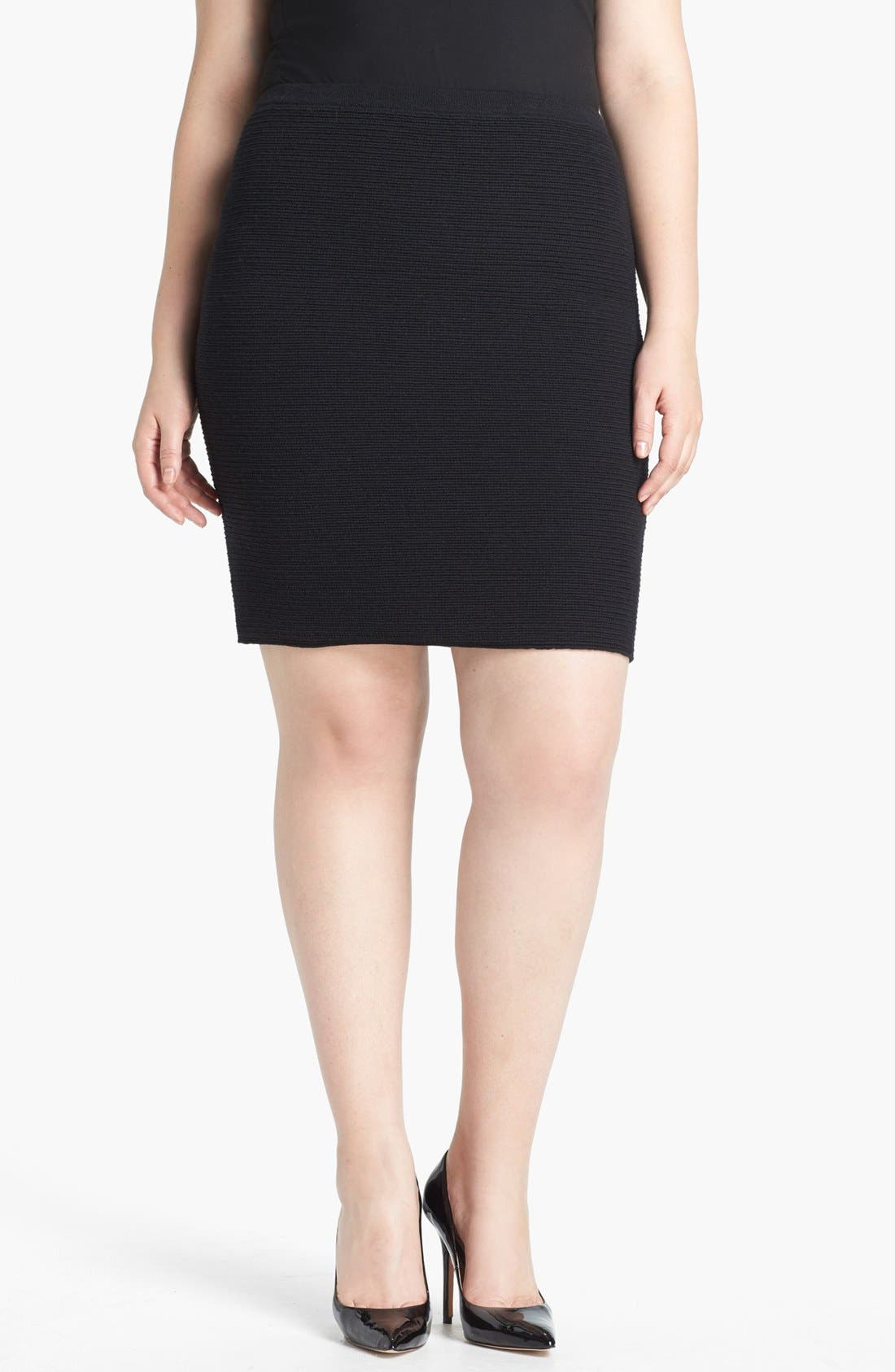 Alternate Image 1 Selected - Eileen Fisher Knit Pencil Skirt (Plus Size)