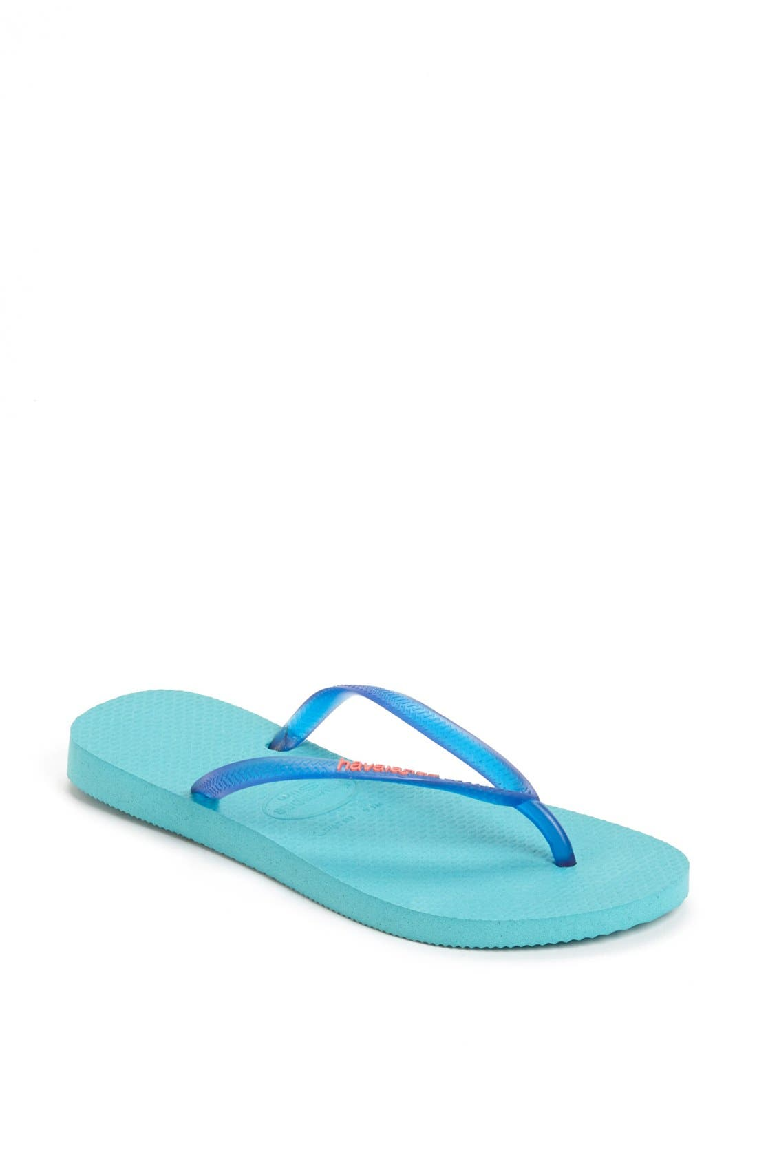 Alternate Image 1 Selected - Havaianas 'Slim' Logo Flip Flop (Women)