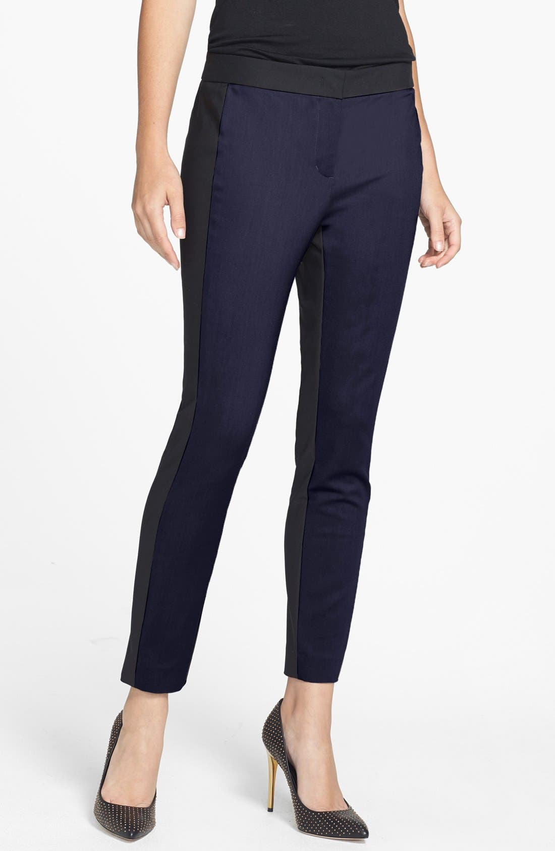 Alternate Image 1 Selected - DKNYC Colorblock Skinny Ankle Pants
