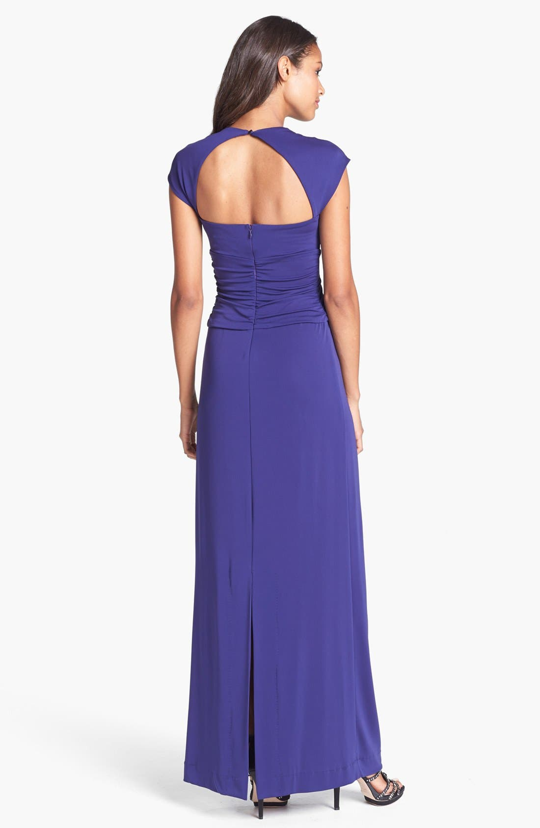 Alternate Image 2  - Nicole Miller Jersey Knot Gown