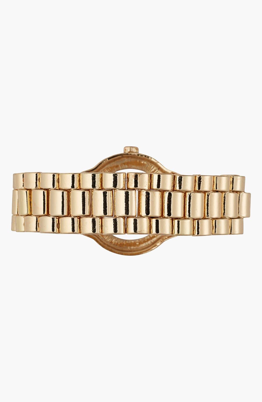 Alternate Image 2  - Cara Couture Wristwatch Stretch Bracelet