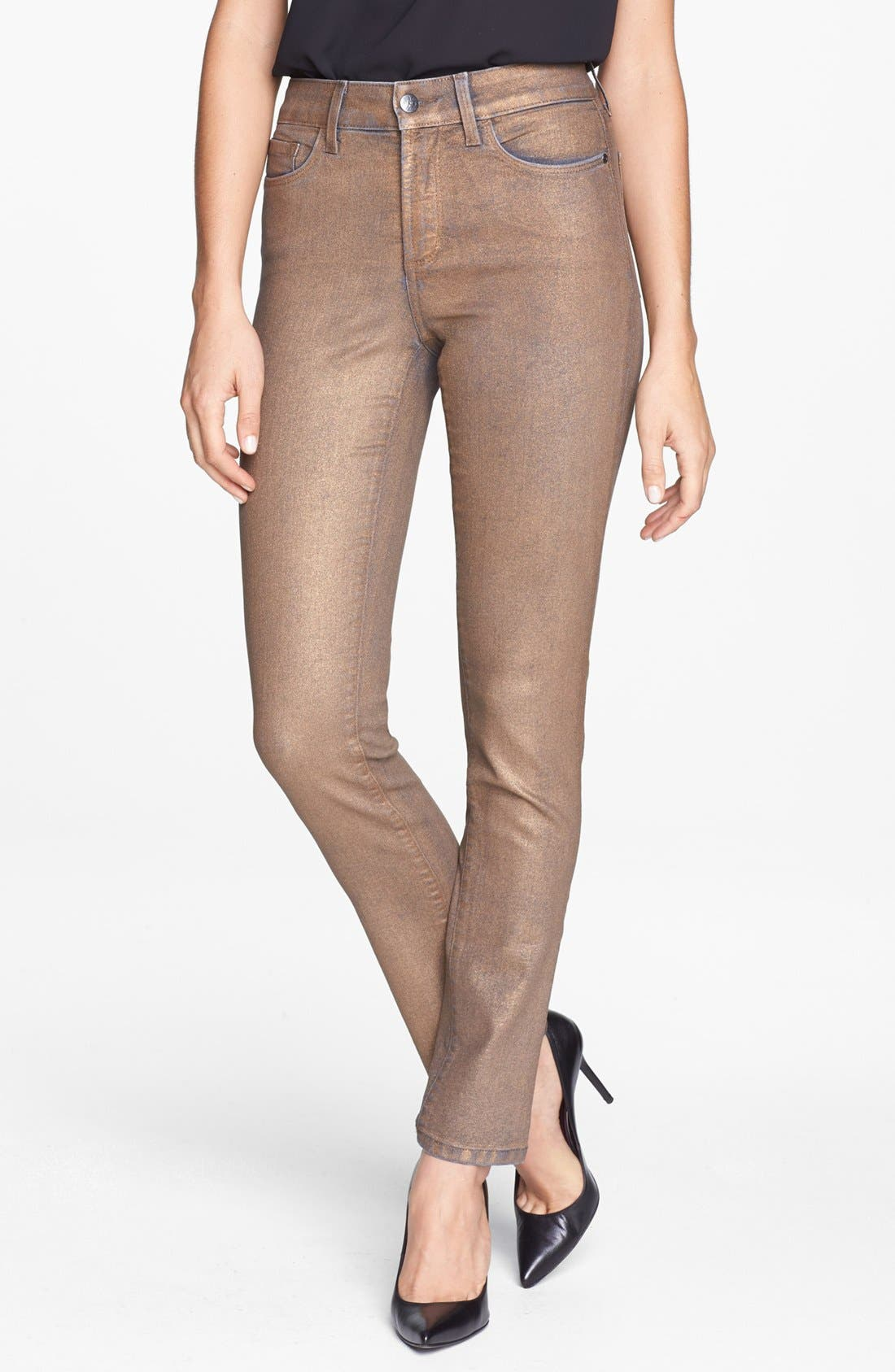 Alternate Image 1 Selected - NYDJ 'Sheri' Coated Stretch Skinny Jeans