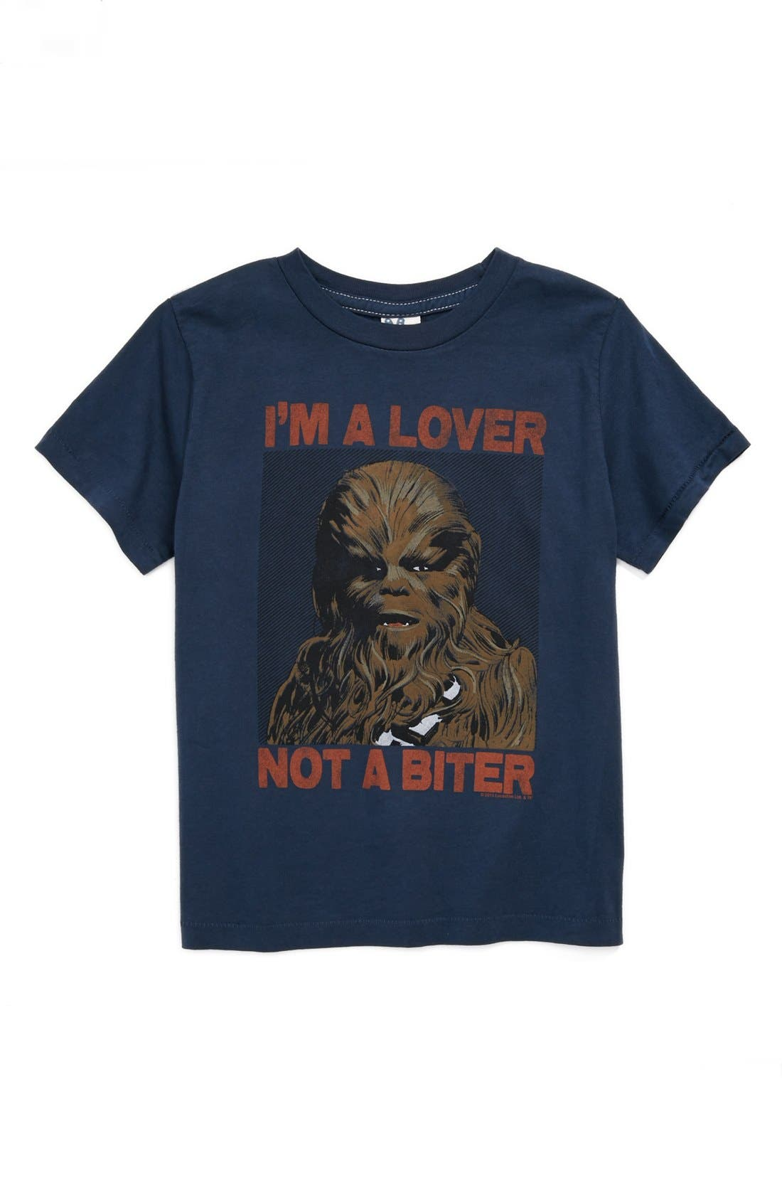 Alternate Image 1 Selected - Junk Food 'Lover Not a Biter' T-Shirt (Toddler Boys)