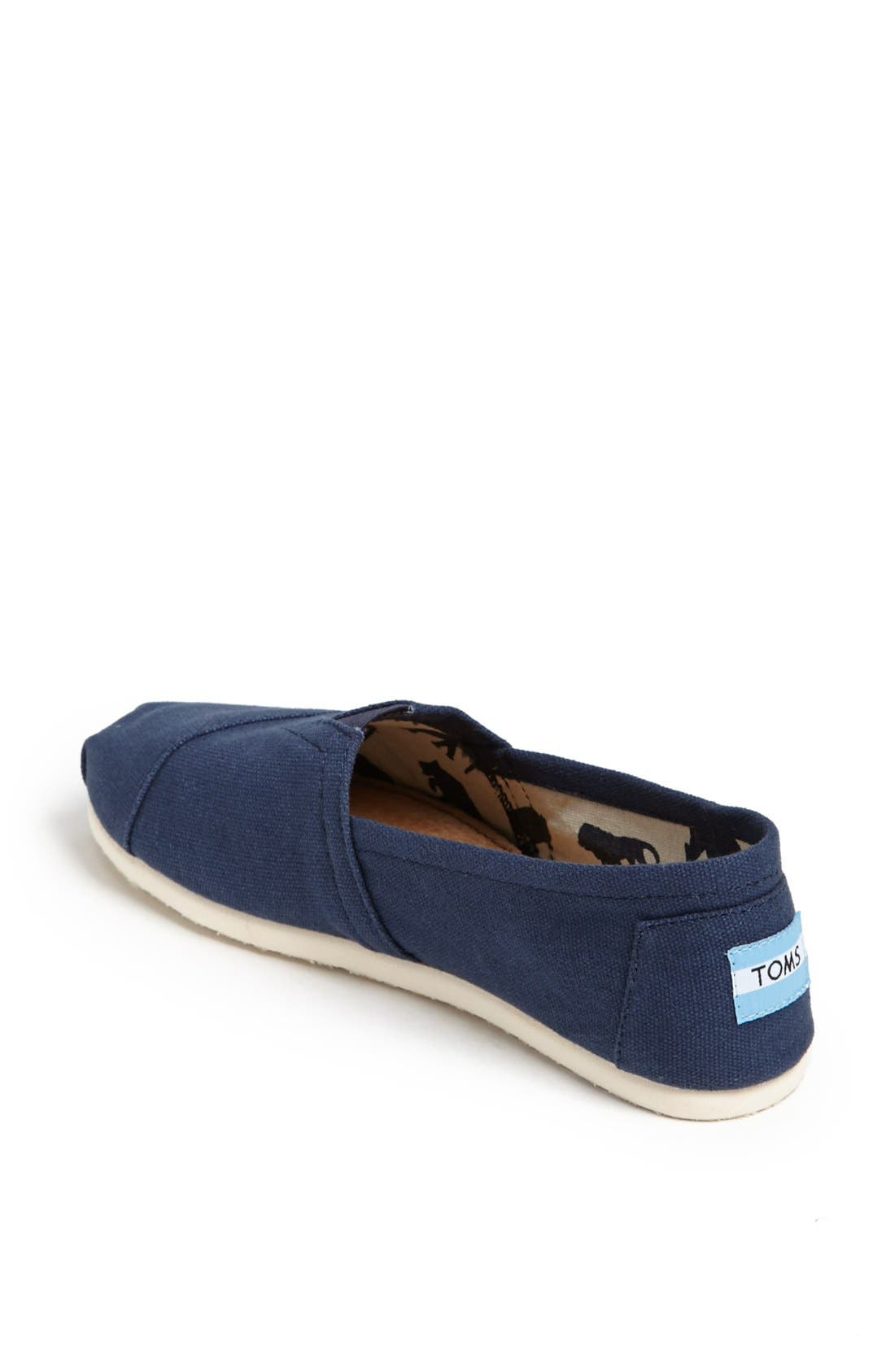 Alternate Image 2  - TOMS 'Classic' Canvas Slip-On (Women)