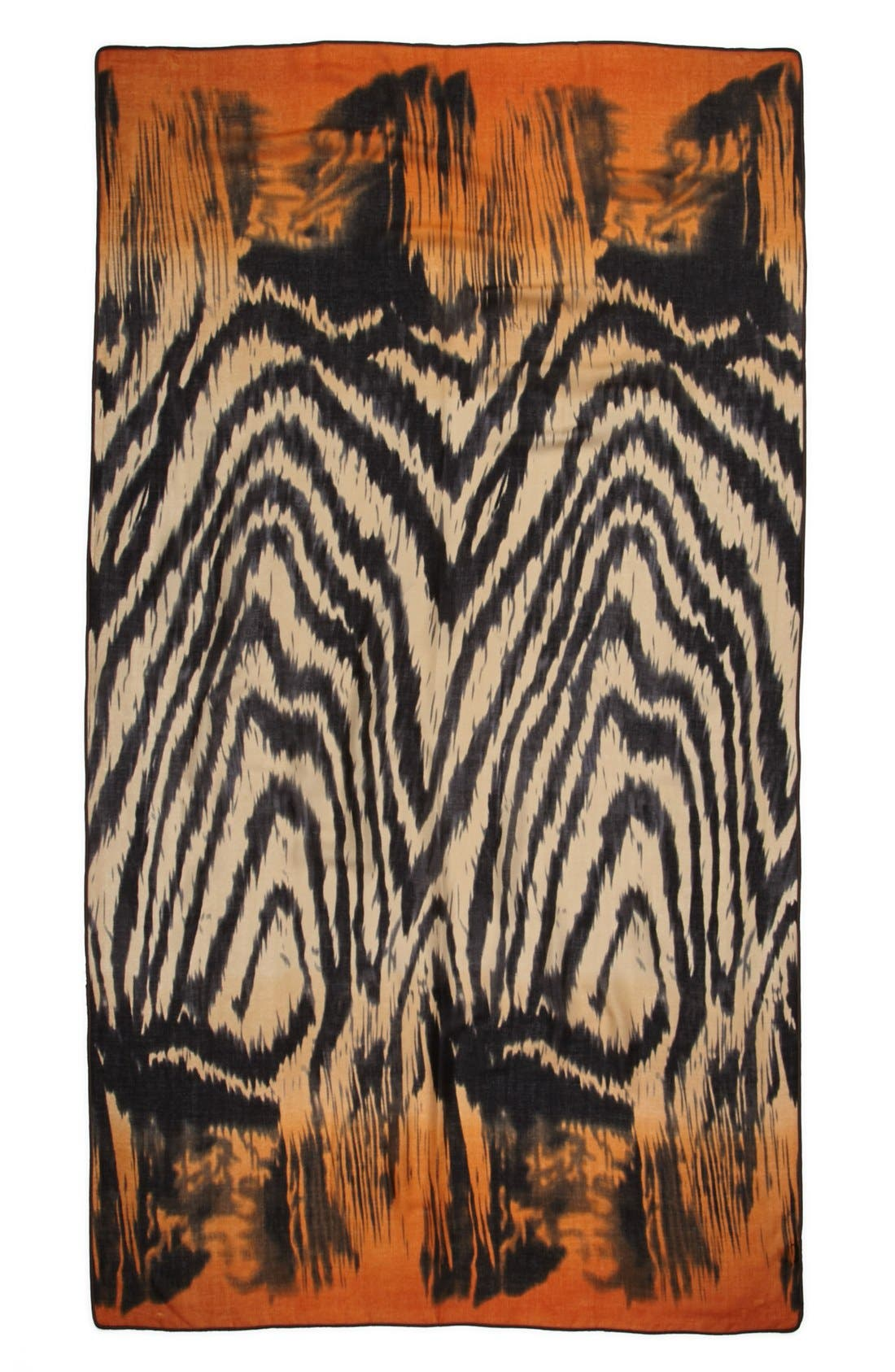 Alternate Image 2  - Roffe Accessories Ombré Zebra Print Scarf
