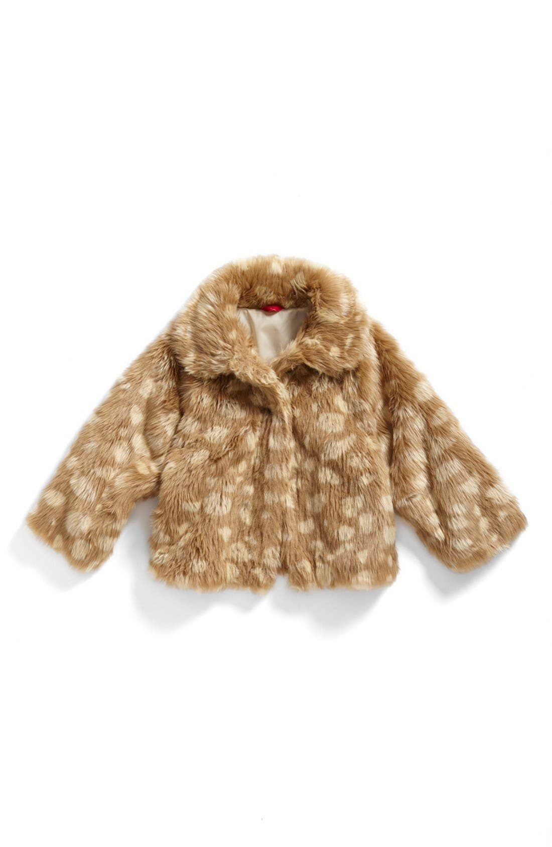 Main Image - Ruby & Bloom 'Mia' Faux Fur Coat (Big Girls)