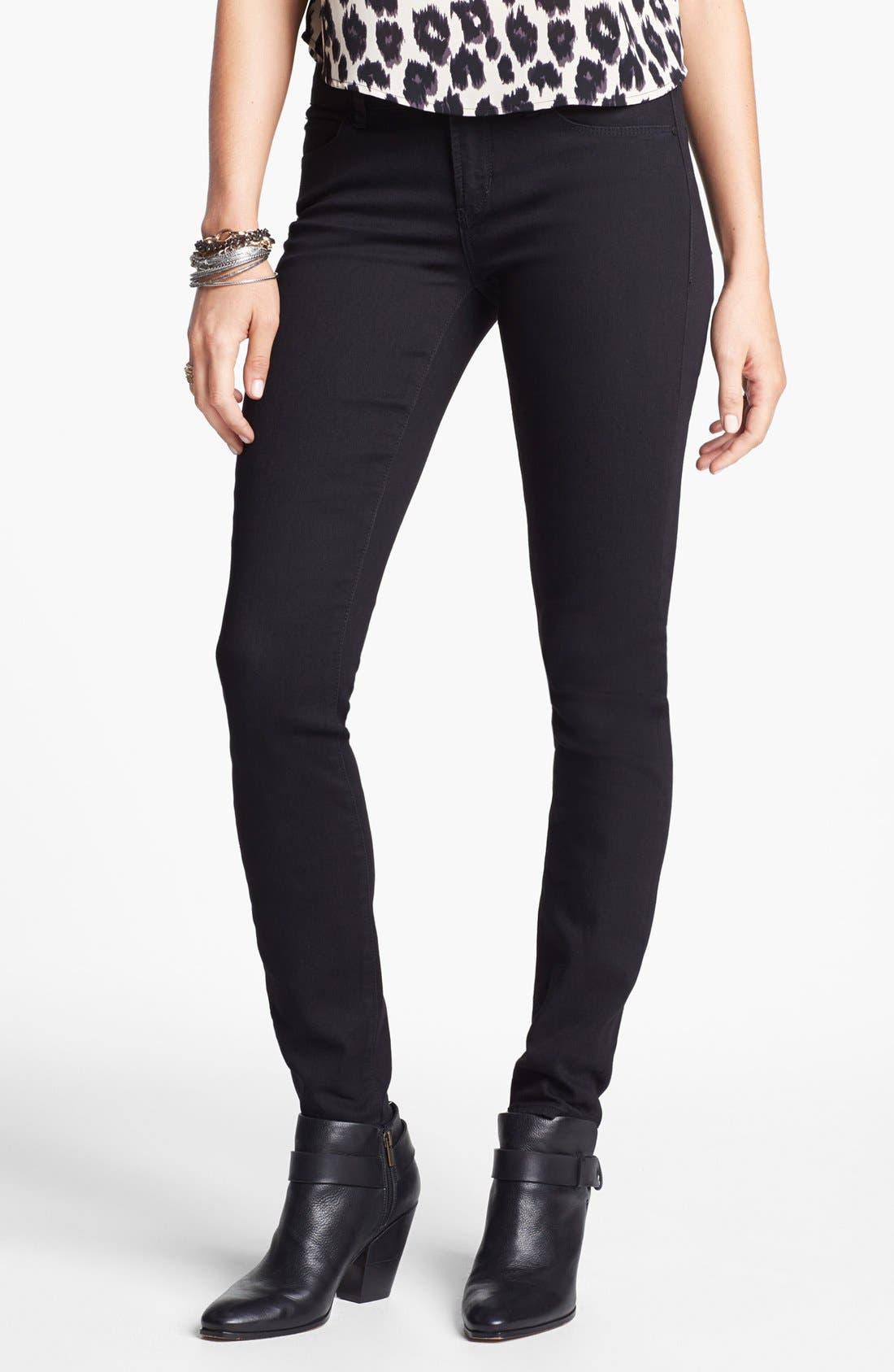 Alternate Image 1 Selected - Articles of Society 'Mya' Skinny Jeans (Blackout) (Juniors)
