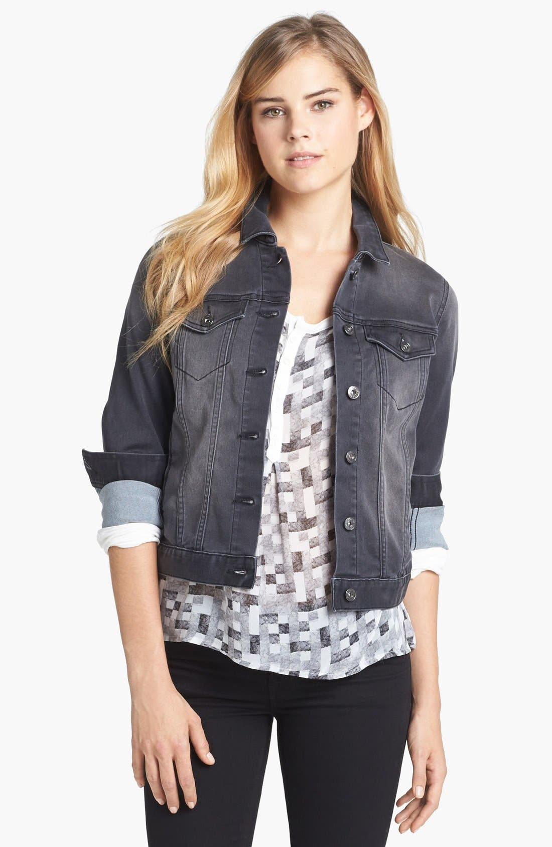 Alternate Image 1 Selected - Two by Vince Camuto 'Stone' Jean Jacket