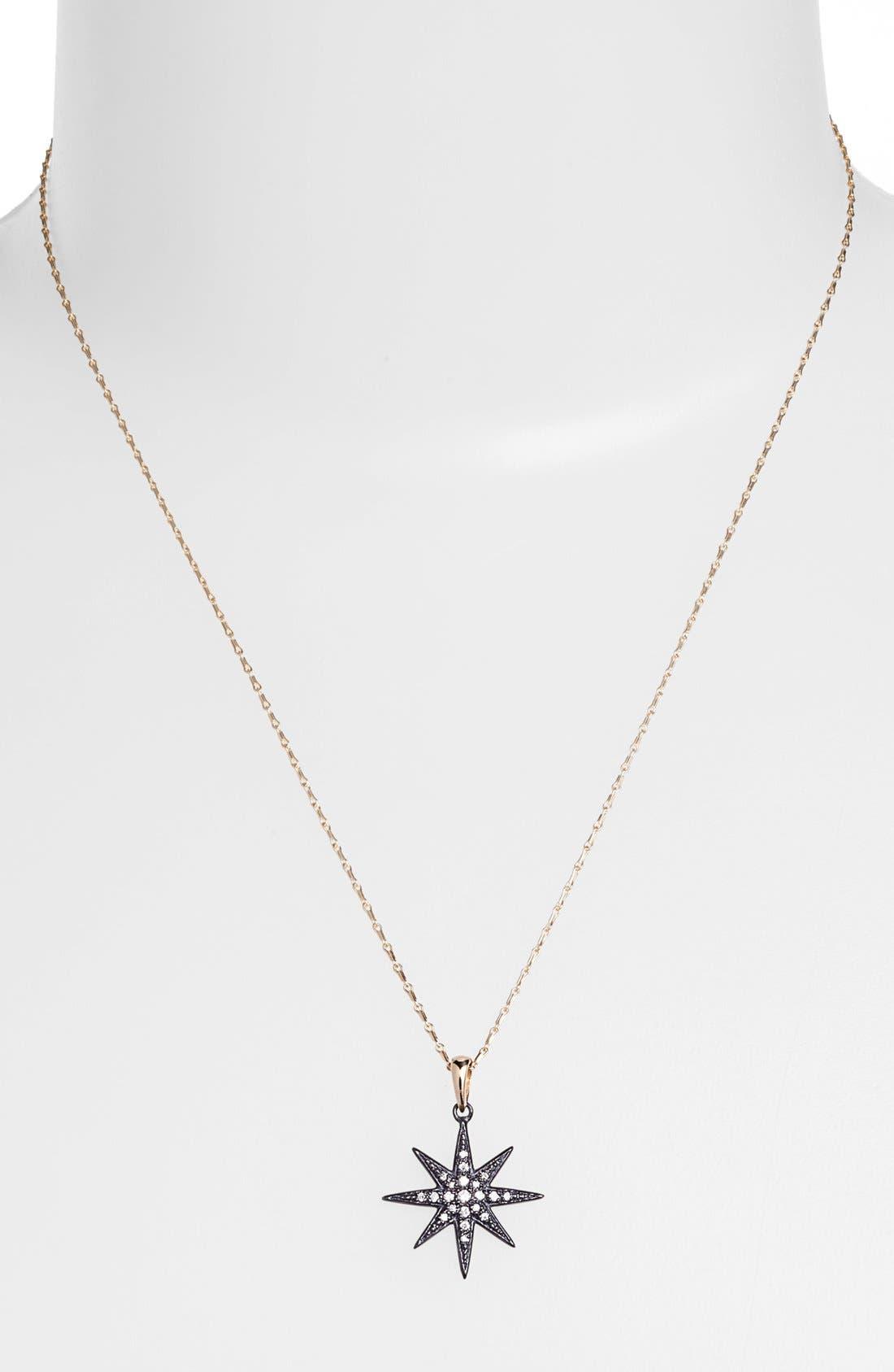 Alternate Image 1 Selected - Mizuki 'Icicles' Diamond Star Pendant Necklace
