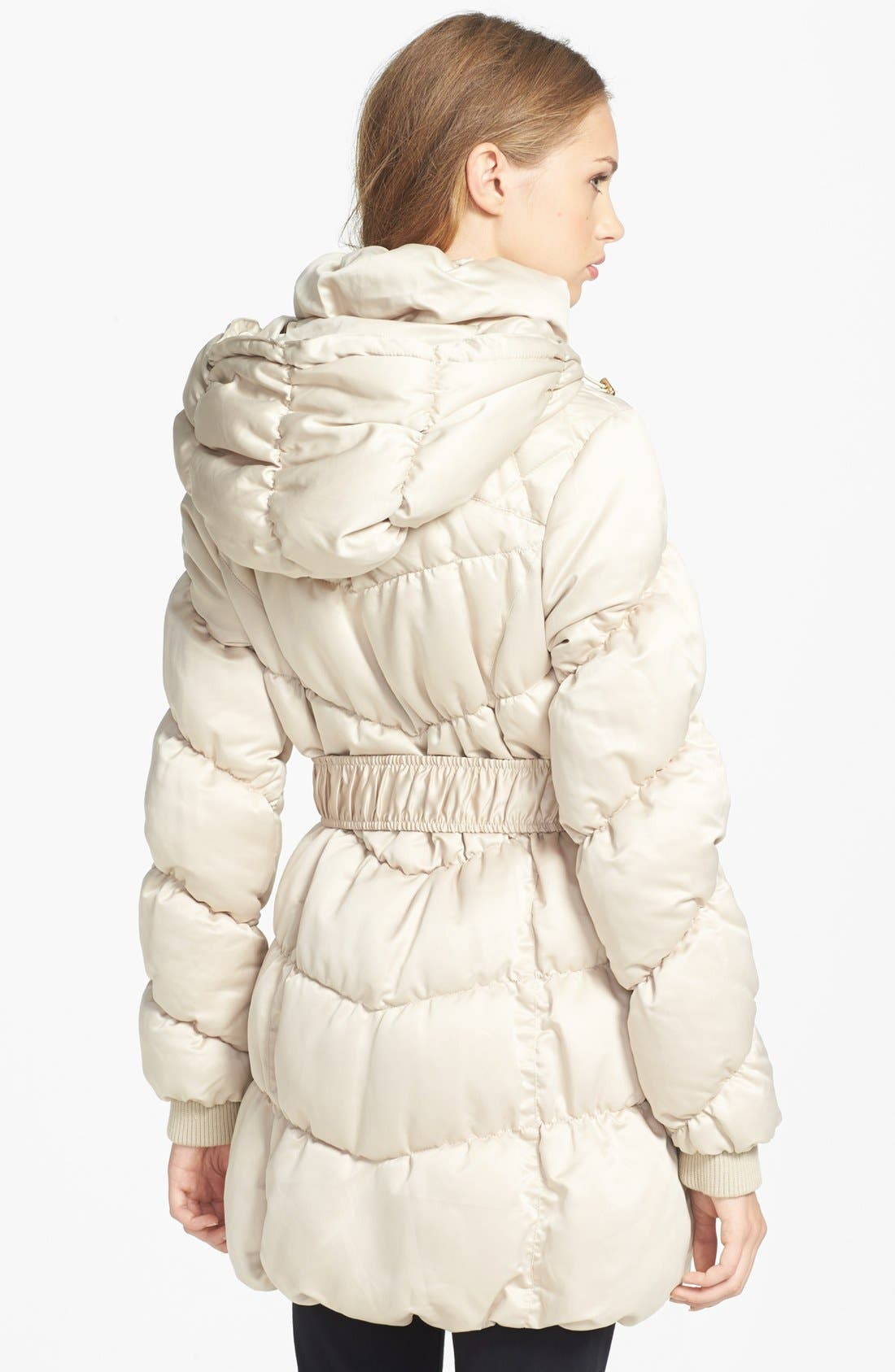 Alternate Image 2  - bebe Belted Quilted Coat
