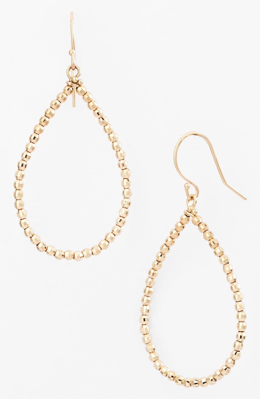 Main Image - Mizuki 'Cut Beads' Open Teardrop Earrings