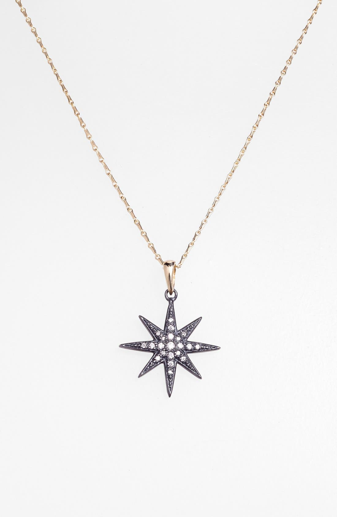 Alternate Image 2  - Mizuki 'Icicles' Diamond Star Pendant Necklace