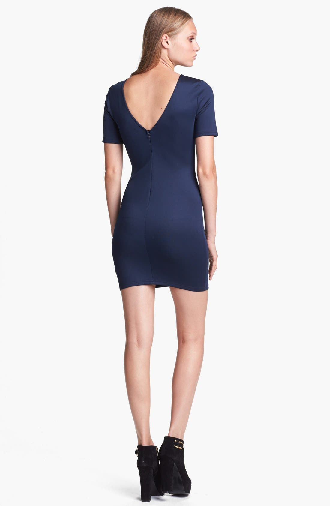 Alternate Image 2  - ASTR Embroidered Body-Con Dress